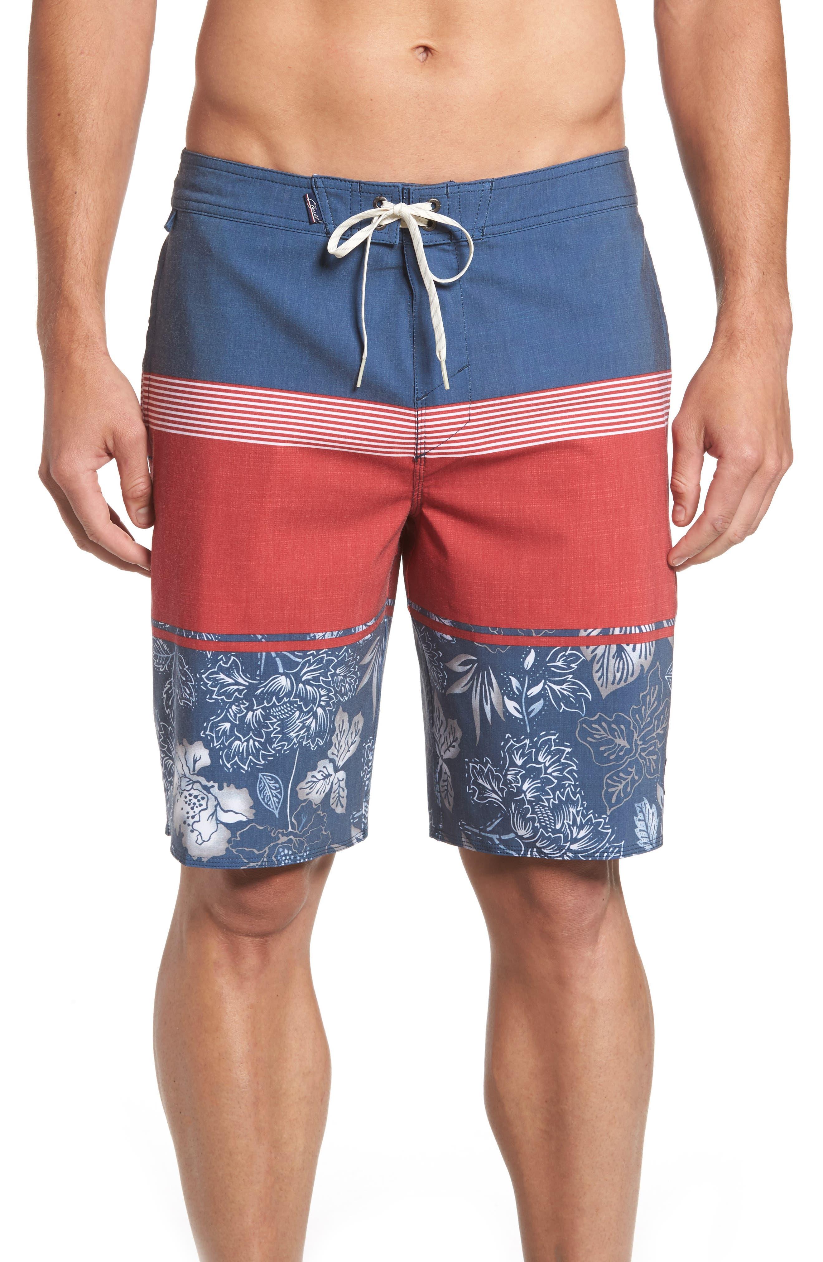 Surfside Board Shorts,                             Main thumbnail 1, color,                             Red