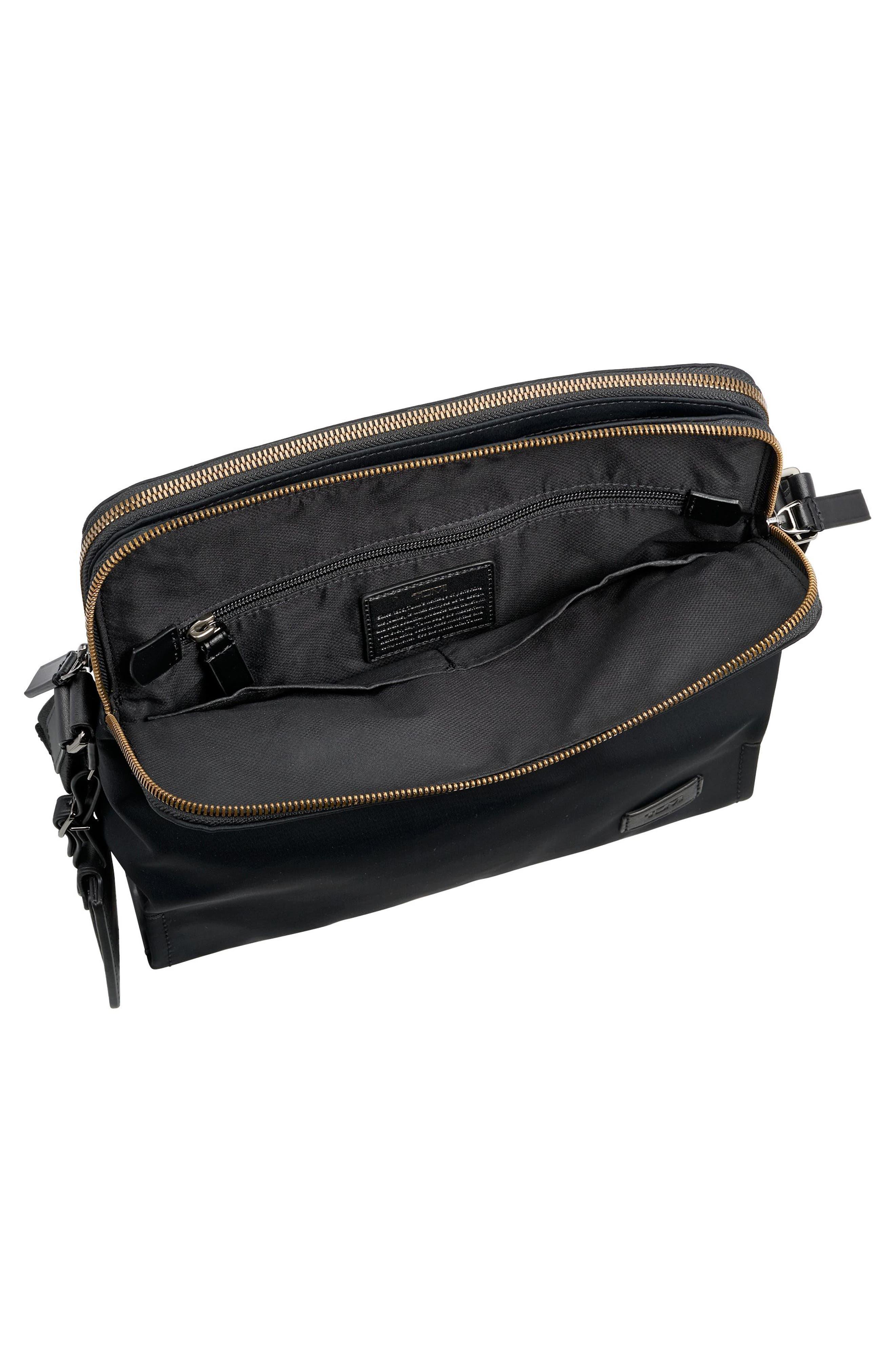 Harrison Stratton Messenger Bag,                             Alternate thumbnail 3, color,                             Black Nylon