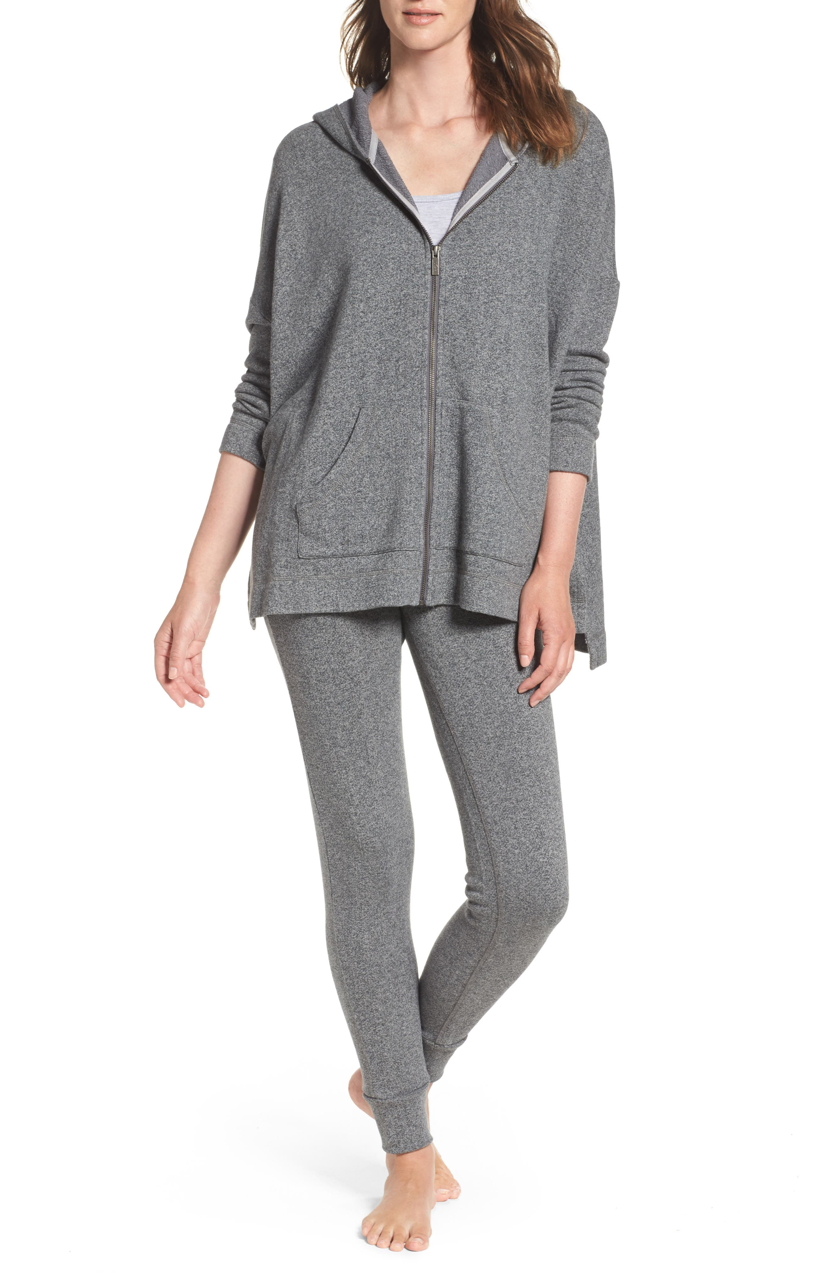 Clementine Terrry Sweatpants,                             Alternate thumbnail 5, color,                             Charcoal Heather