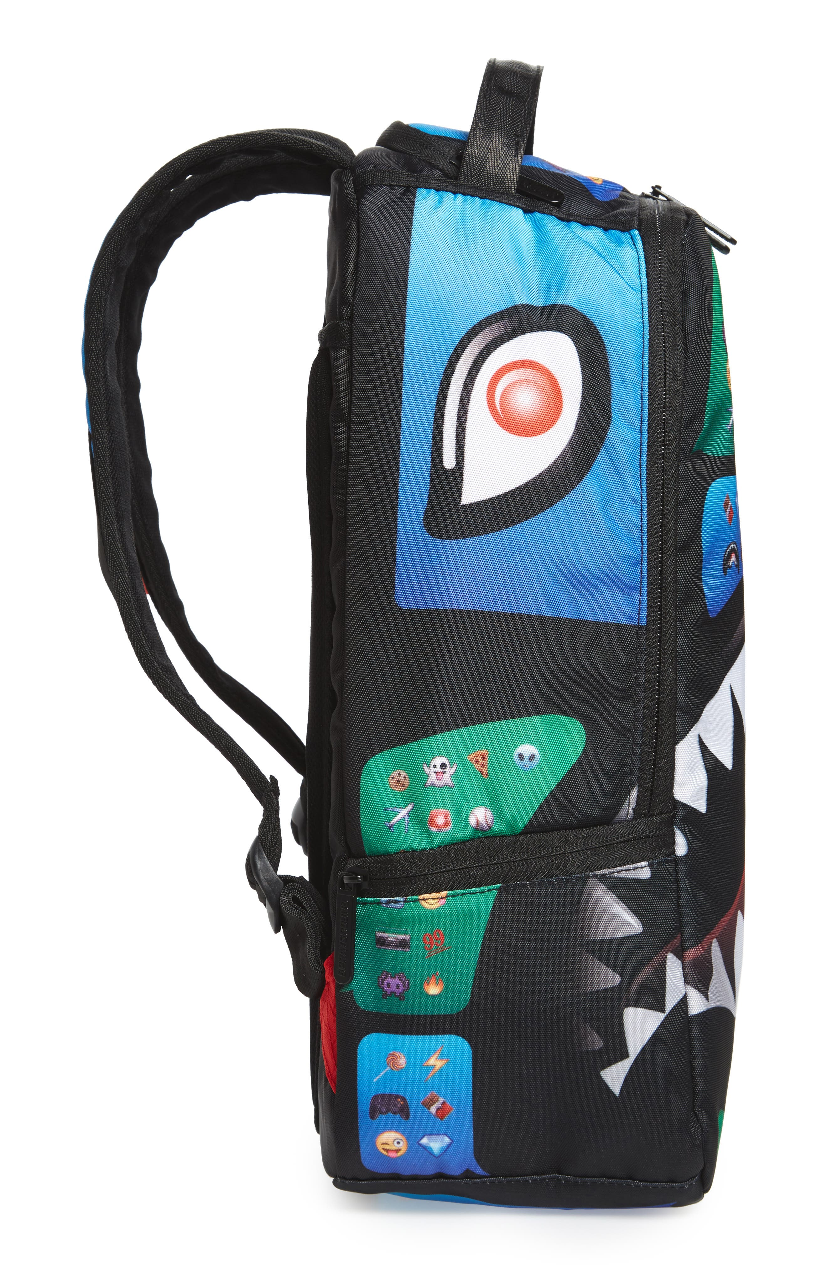 Alternate Image 4  - Sprayground Emoji Shark Backpack (Kids)