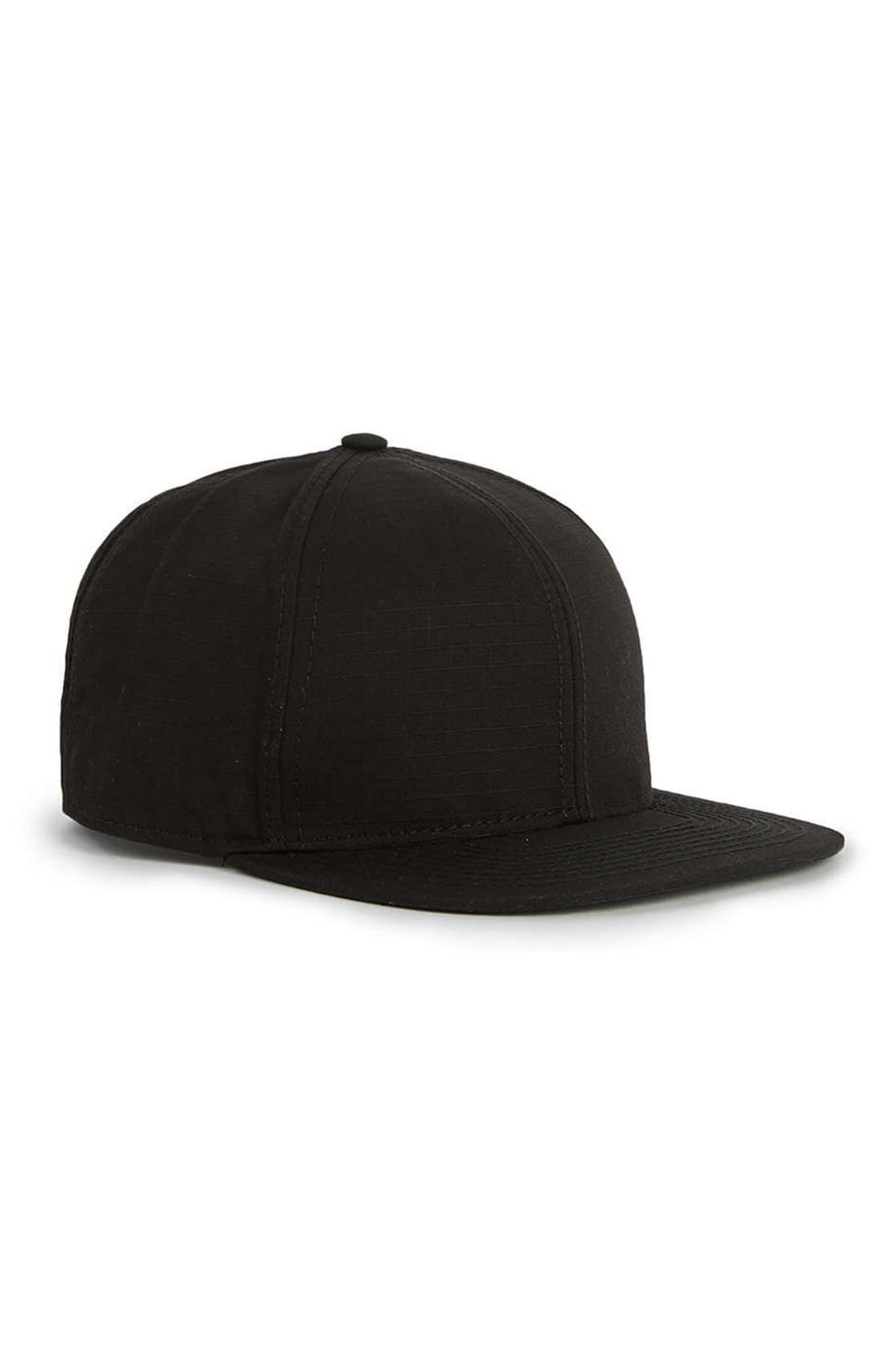TOPMAN Ripstop Snapback Cap
