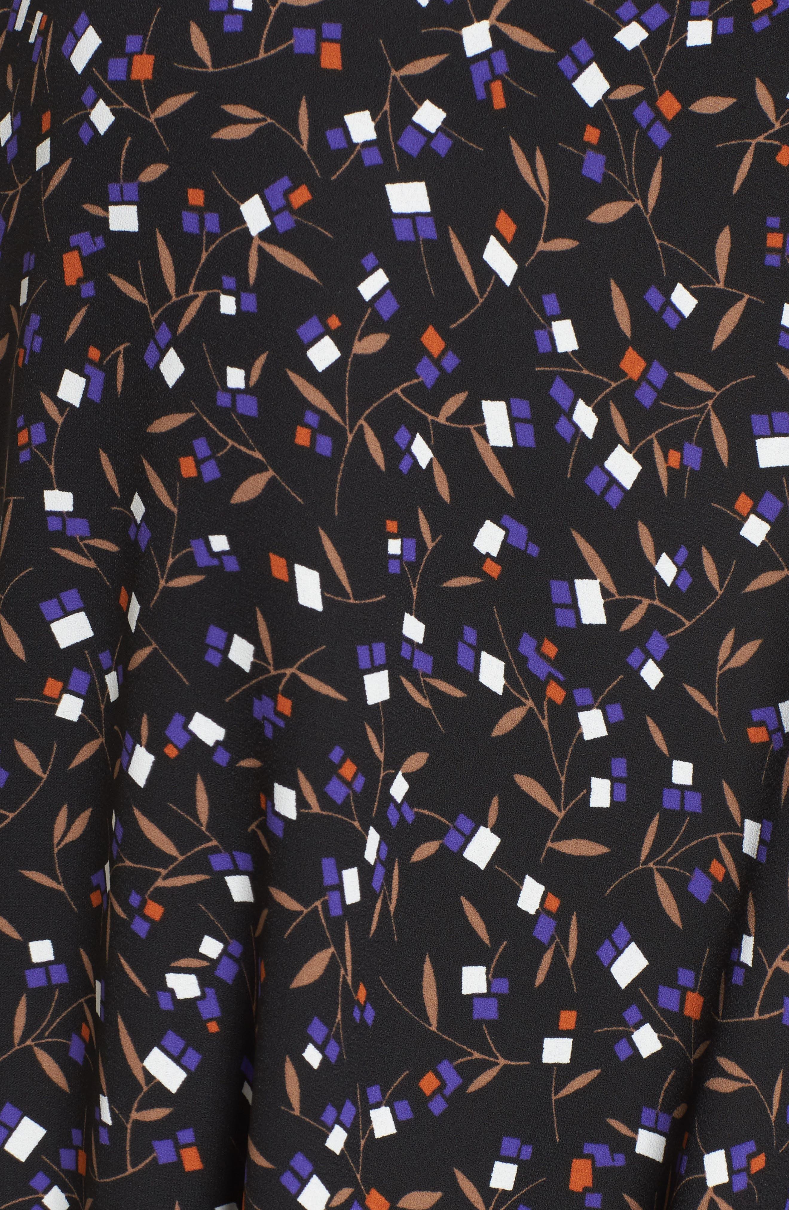 Polo Dress,                             Alternate thumbnail 5, color,                             Black/ Mushroom Combo