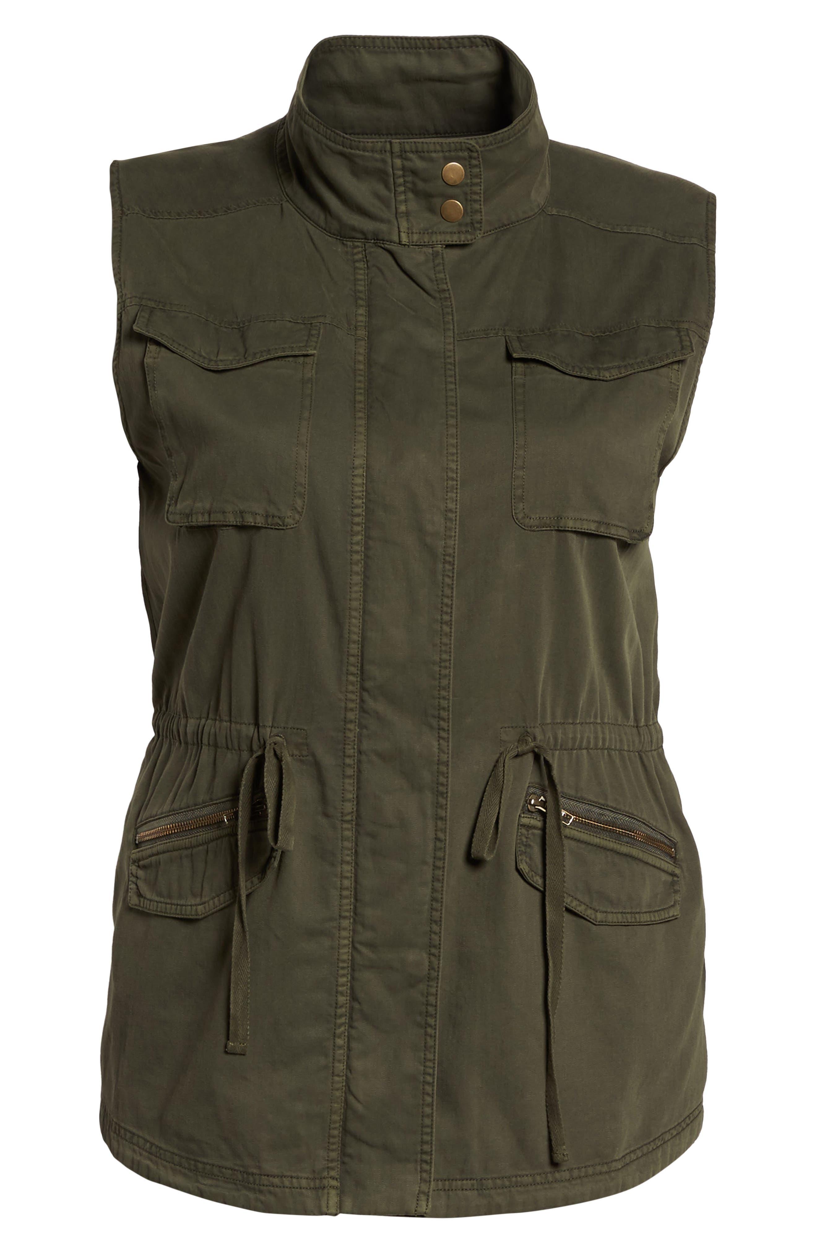 Utility Vest,                             Alternate thumbnail 6, color,                             Olive