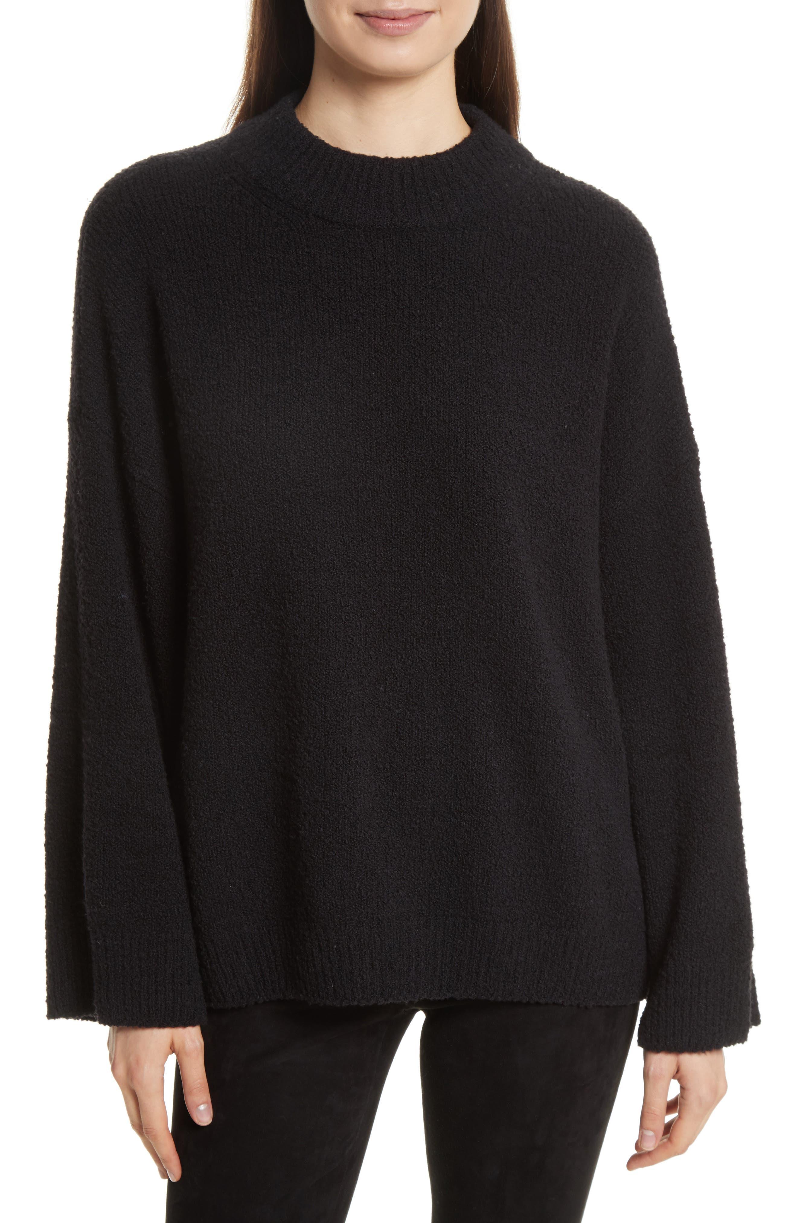 Boxy Knit Pullover,                             Main thumbnail 1, color,                             Black