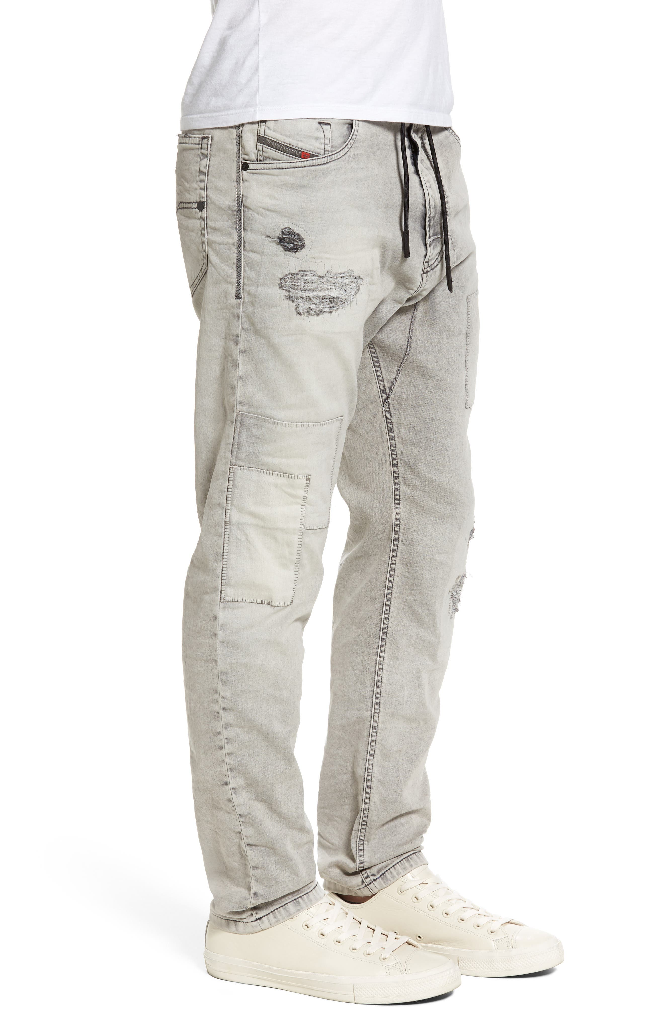 Narrot Slouchy Skinny Fit Jeans,                             Alternate thumbnail 3, color,                             0684M