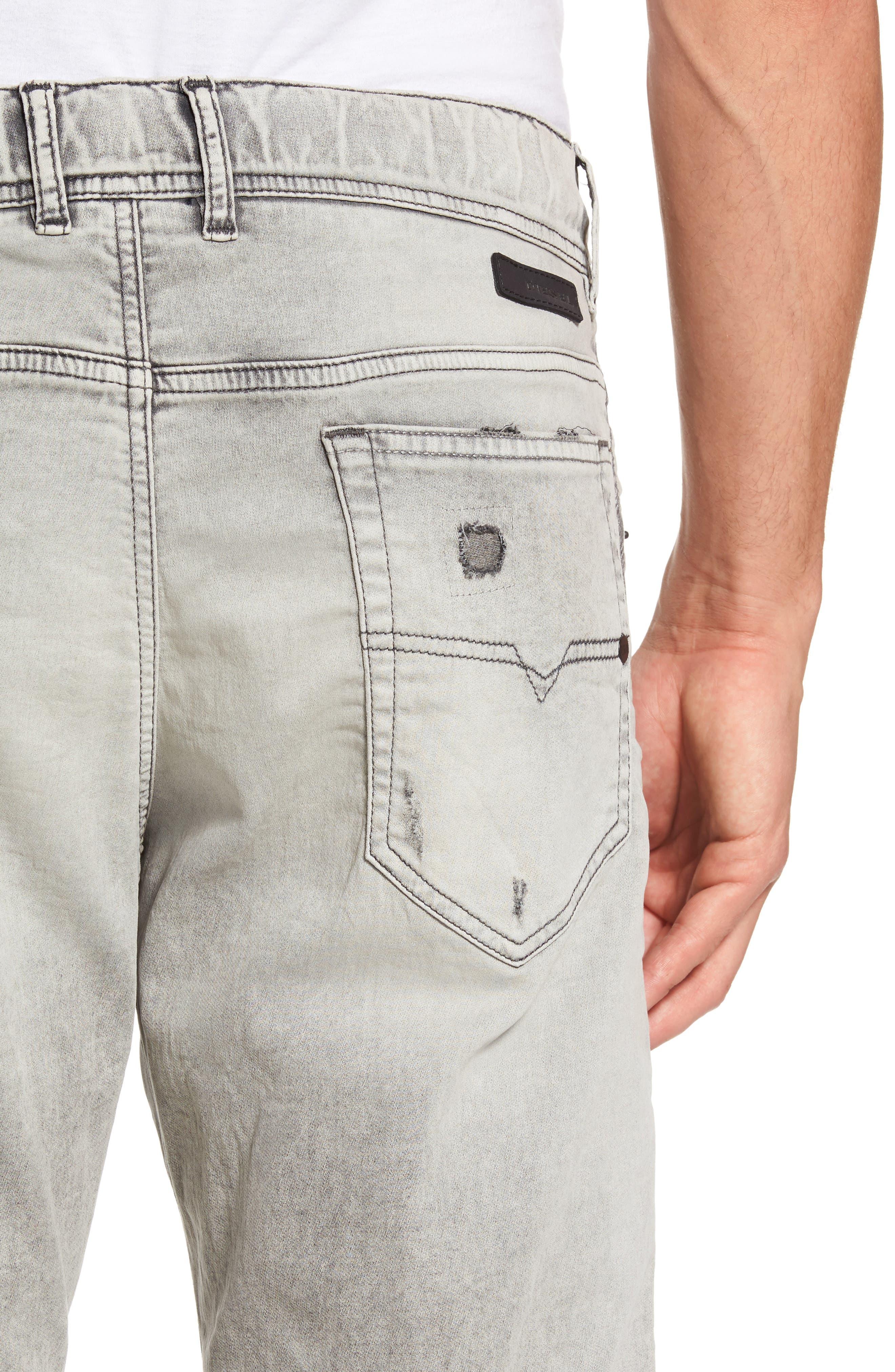 Alternate Image 4  - DIESEL® Narrot Slouchy Skinny Fit Jeans (0684M)