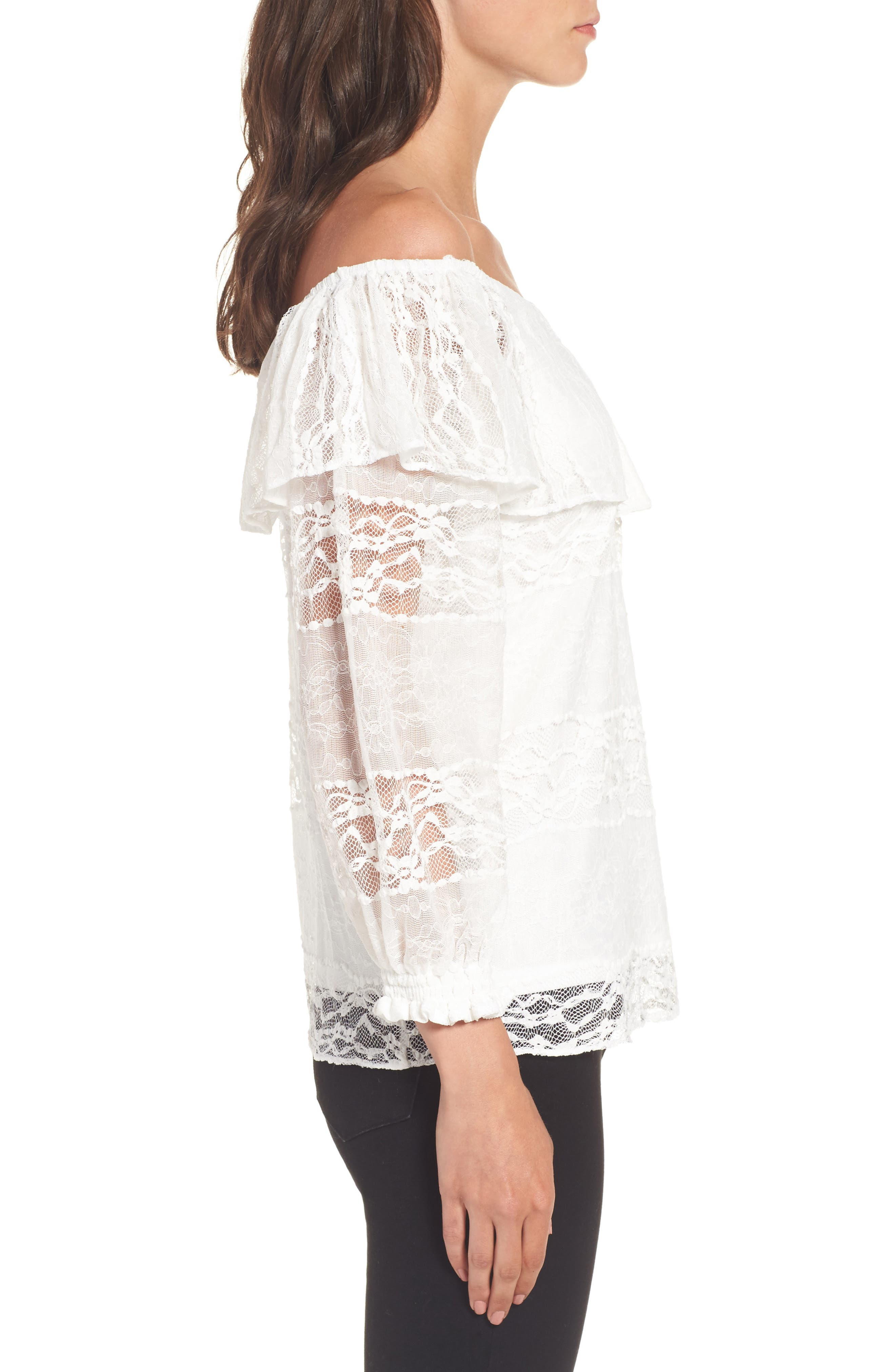 Alternate Image 3  - devlin Wilma Off the Shoulder Lace Blouse