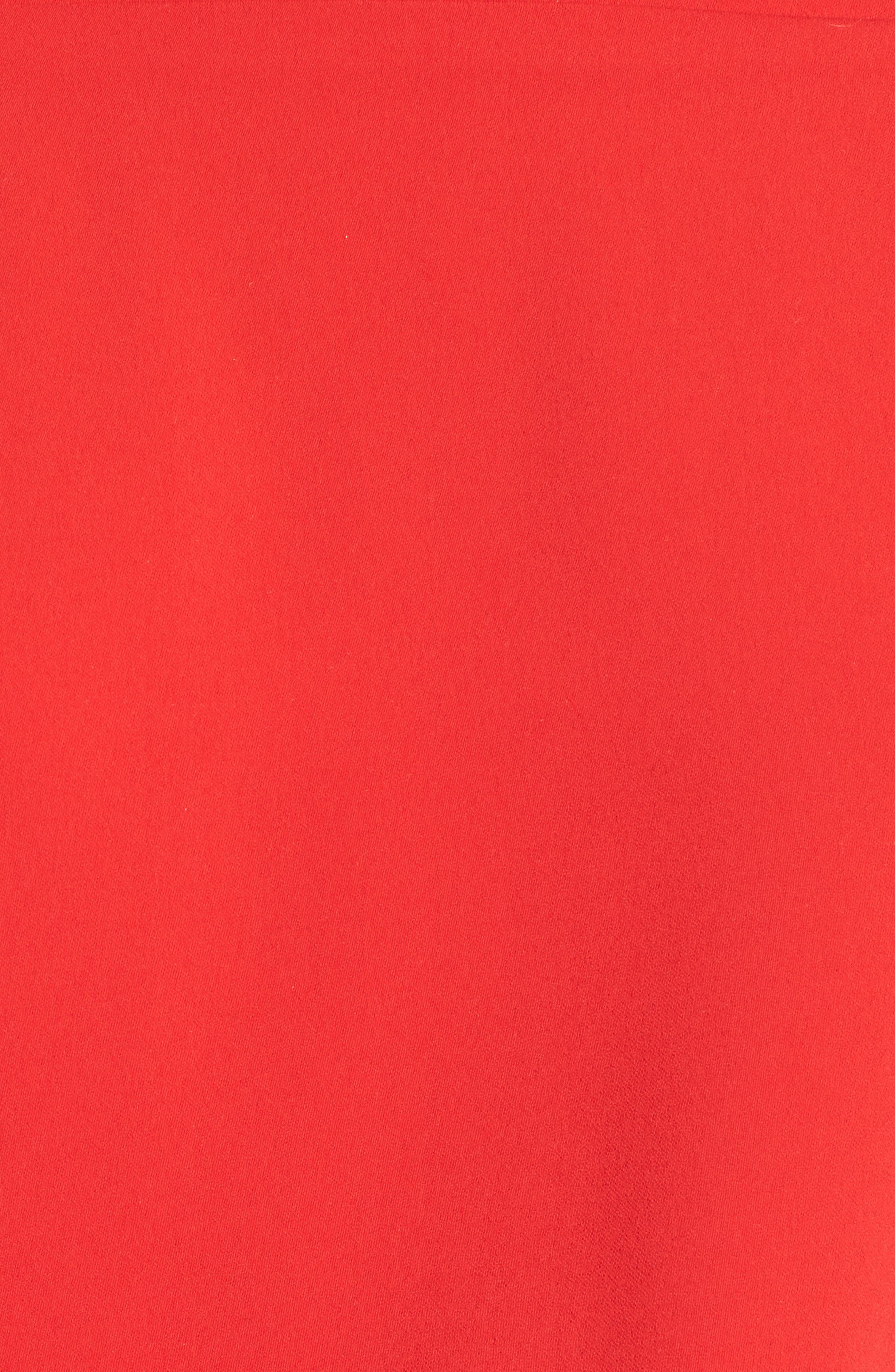 Elson Off the Shoulder Top,                             Alternate thumbnail 5, color,                             Formula One Red