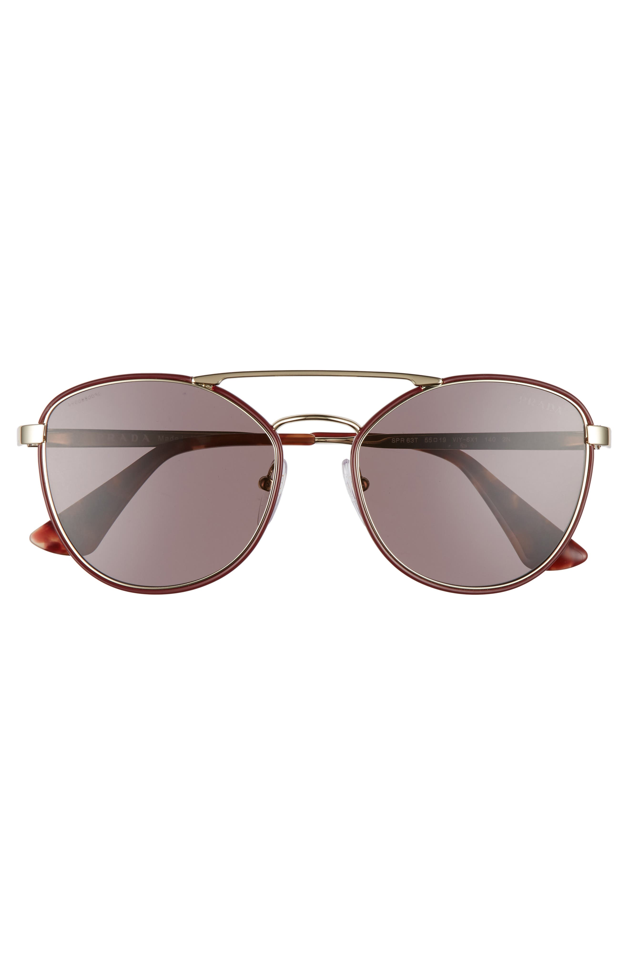 Alternate Image 3  - Prada 55mm Metal Aviator Sunglasses