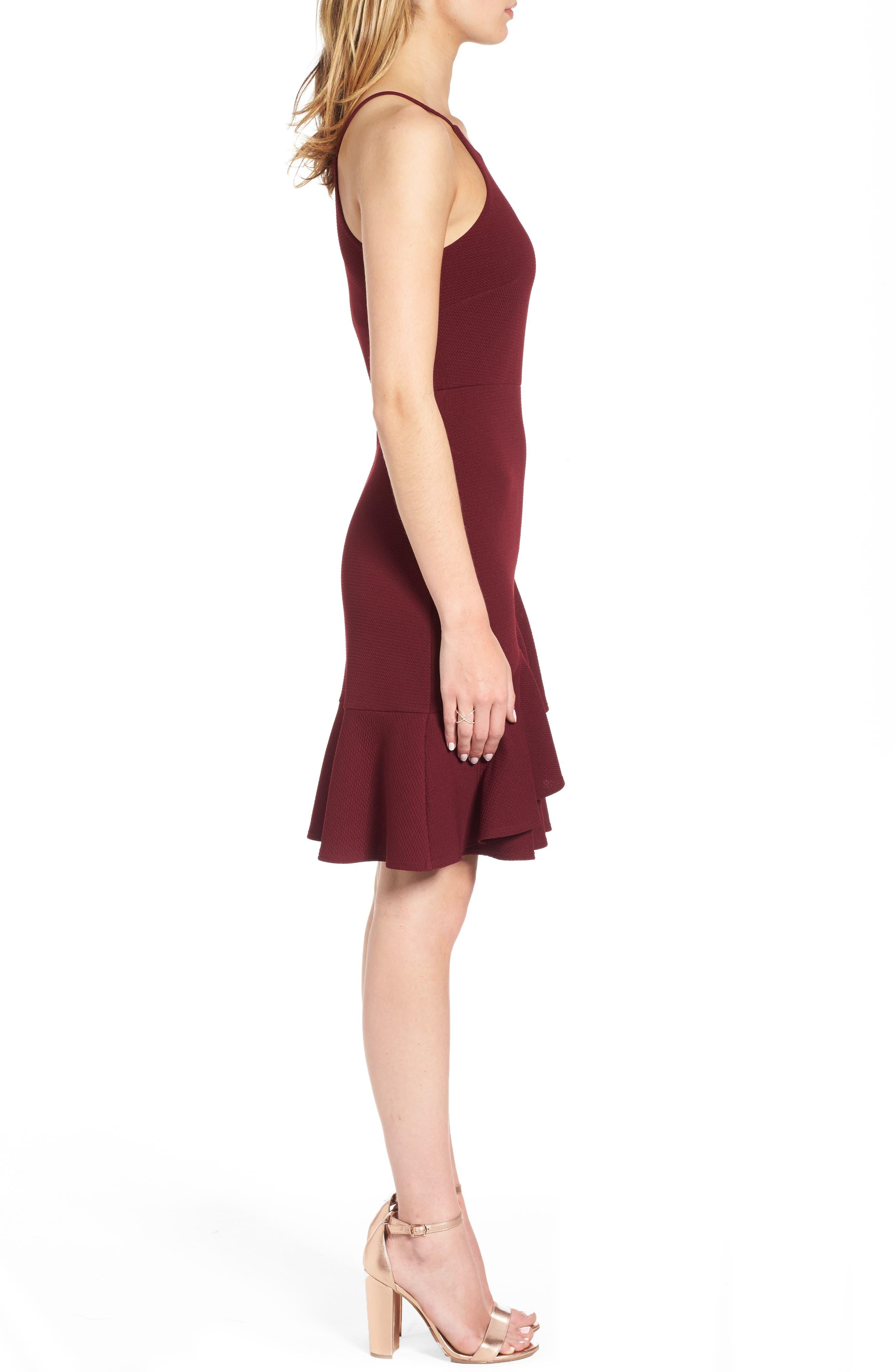 Alternate Image 3  - Soprano Ruffle Hem Knit Dress