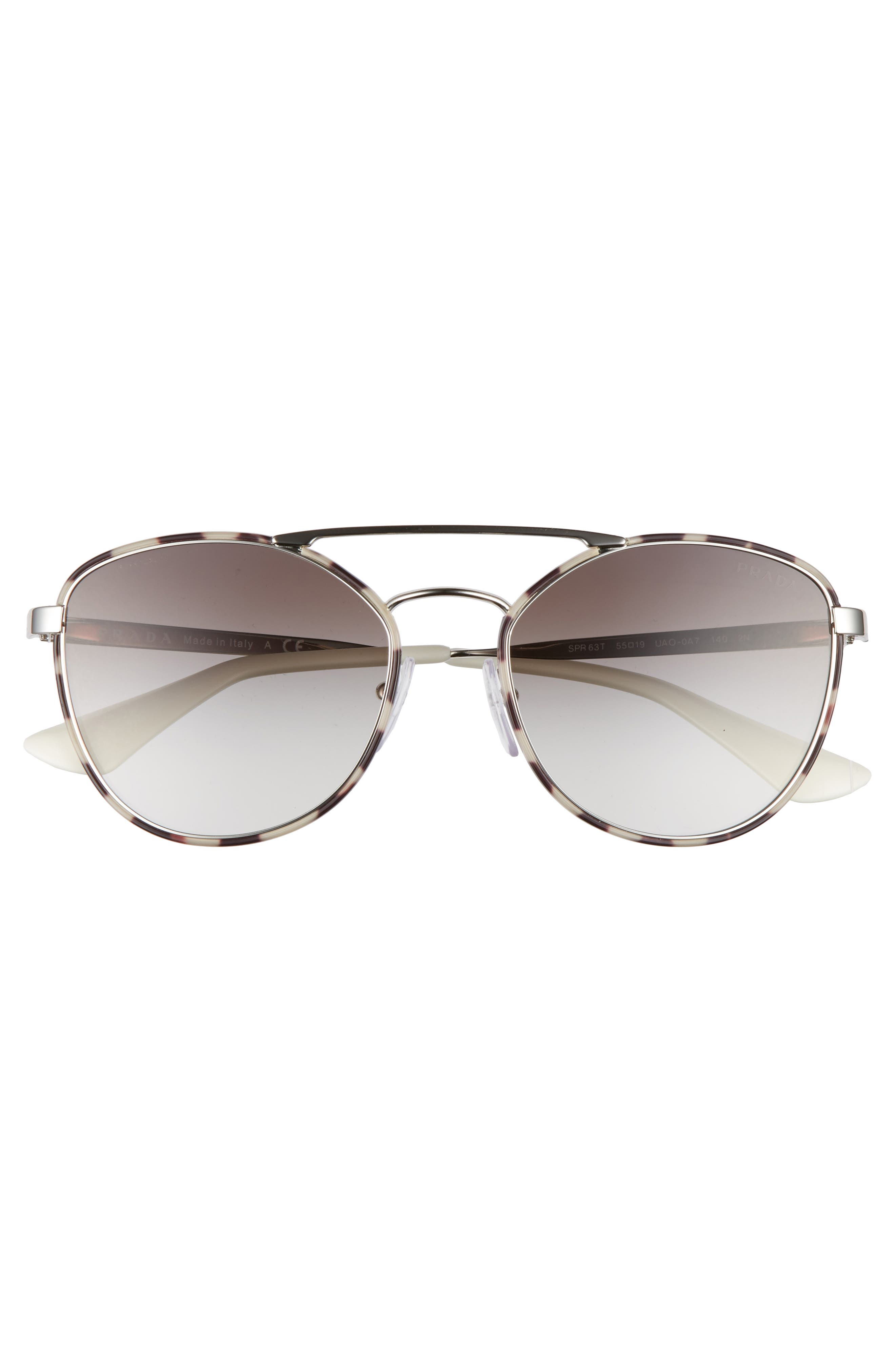 55mm Gradient Aviator Sunglasses,                             Alternate thumbnail 2, color,                             Spotty Brown