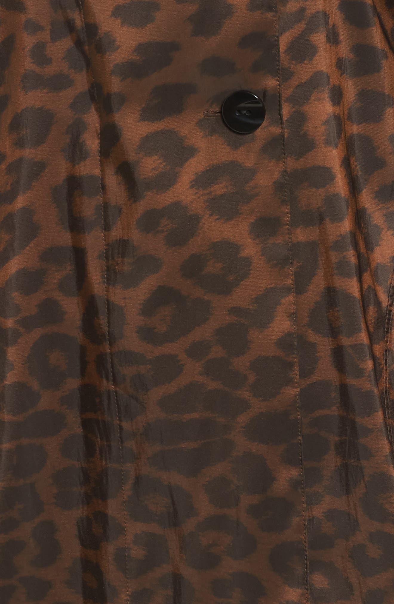 Alternate Image 5  - Mycra Pac Designer Wear 'Mini Donatella Leopard' Reversible Pleat Hood Packable Travel Coat