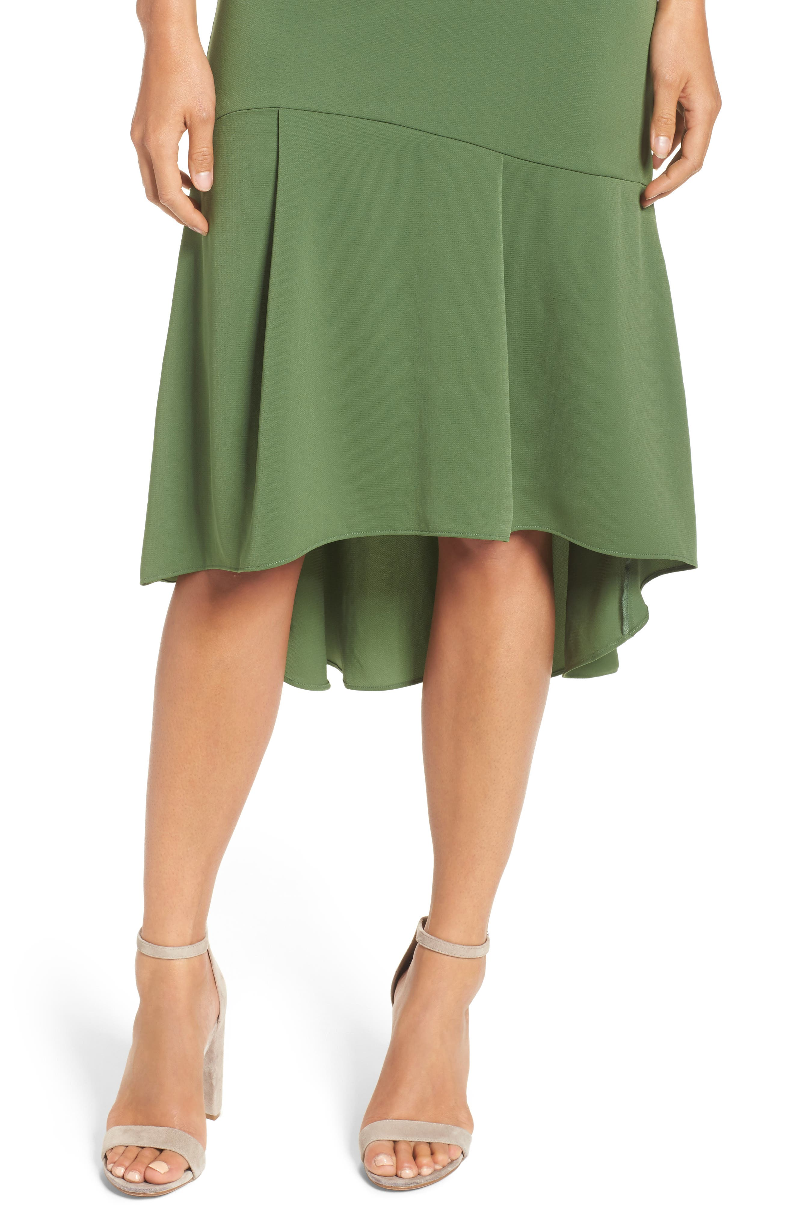 Lovine Midi Dress,                             Alternate thumbnail 4, color,                             Moss Green