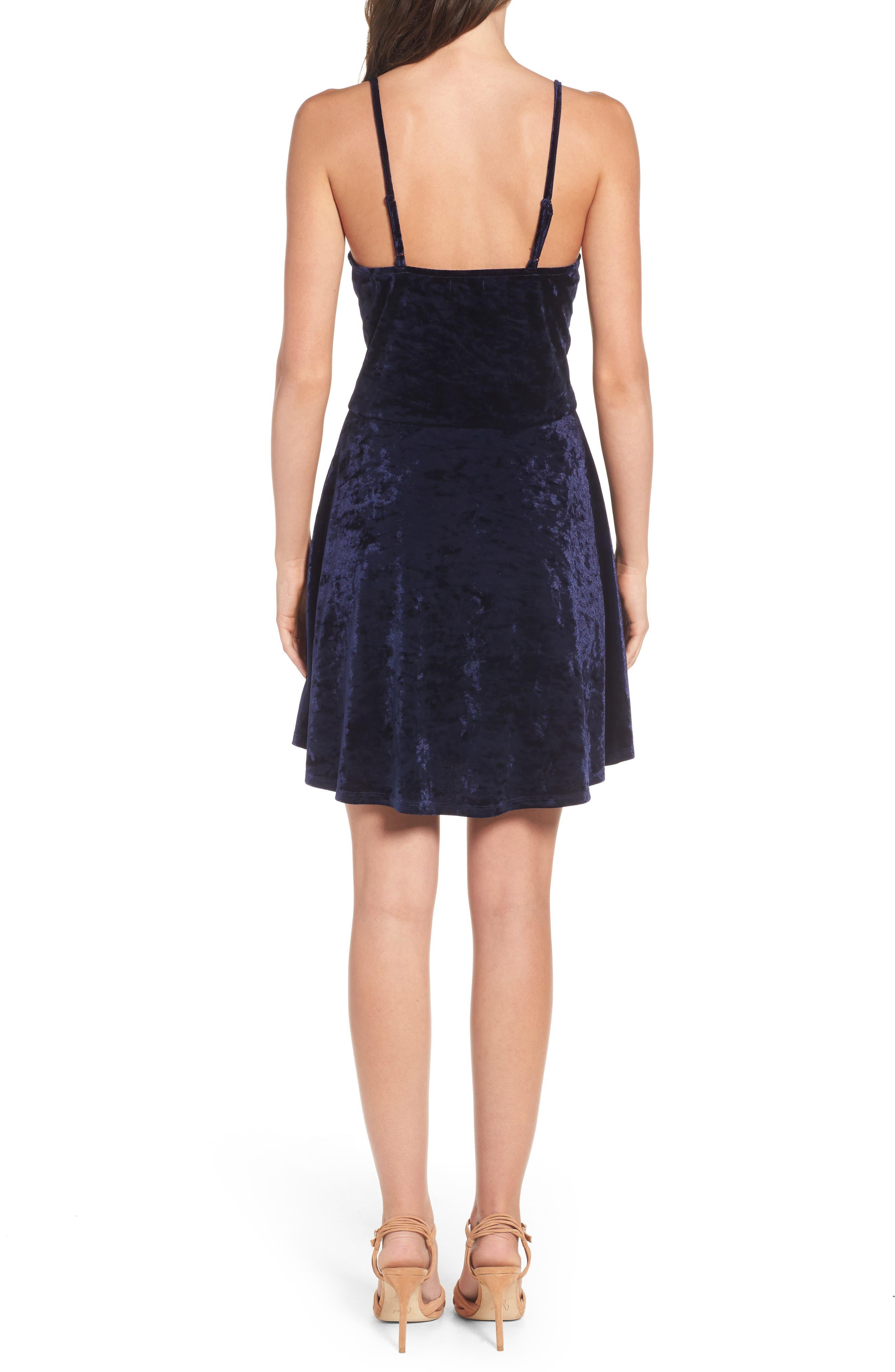 Alternate Image 2  - Love, Fire Velvet Surplice Dress
