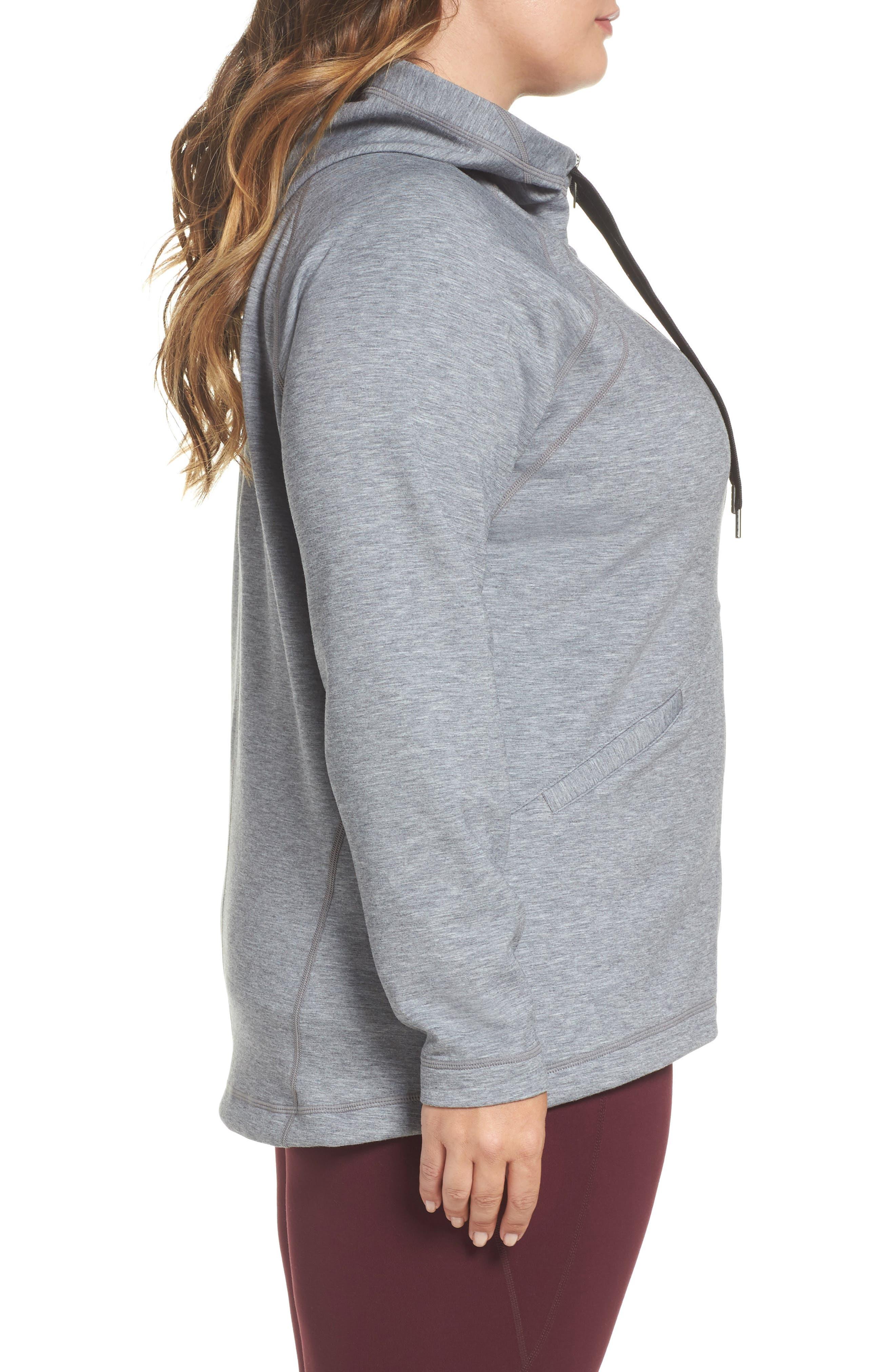 Alternate Image 3  - Zella Socialite Hoodie (Plus Size)