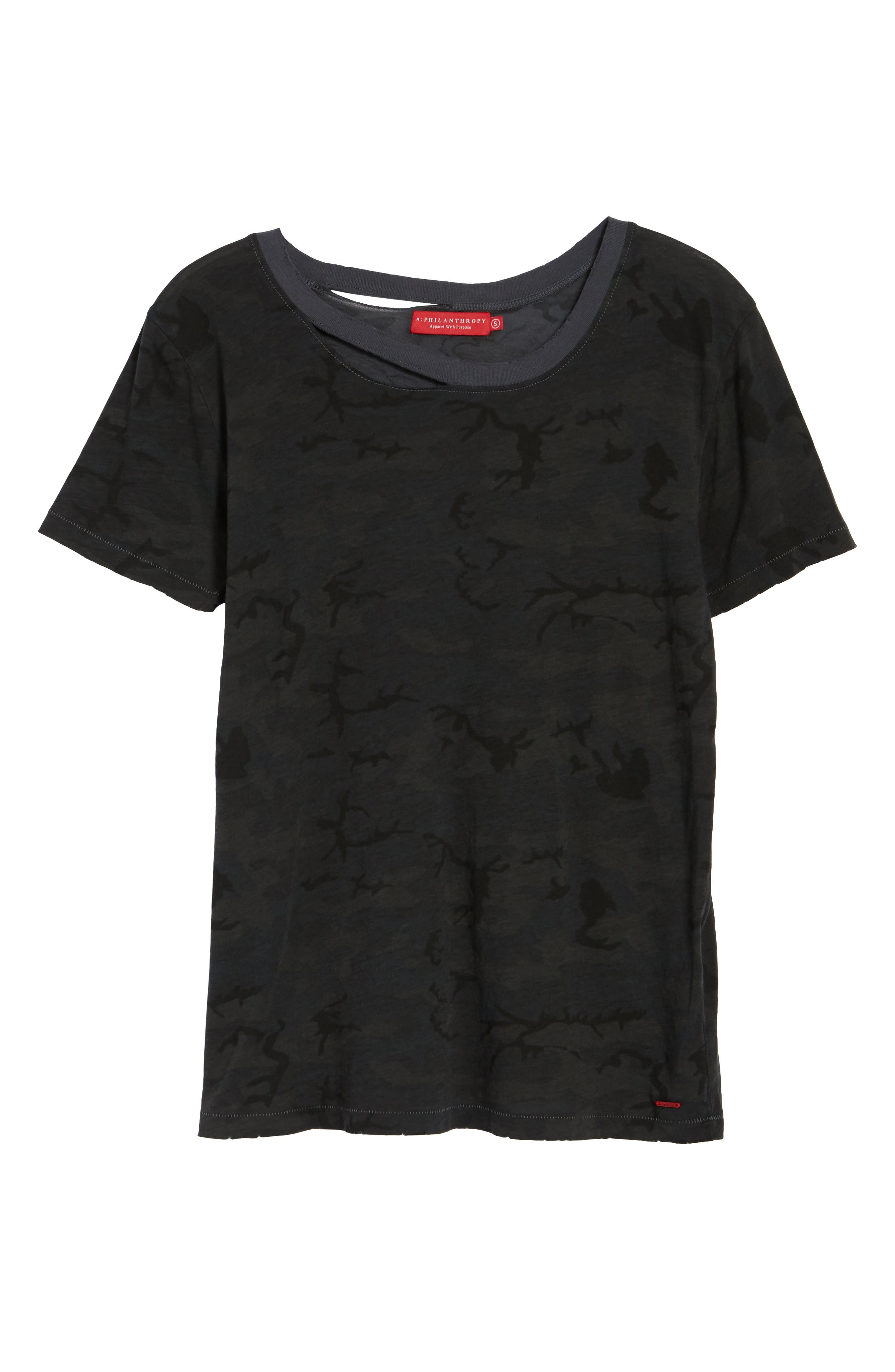 Harlow Deconstructed Tee,                             Alternate thumbnail 6, color,                             Ghost Multi Camo