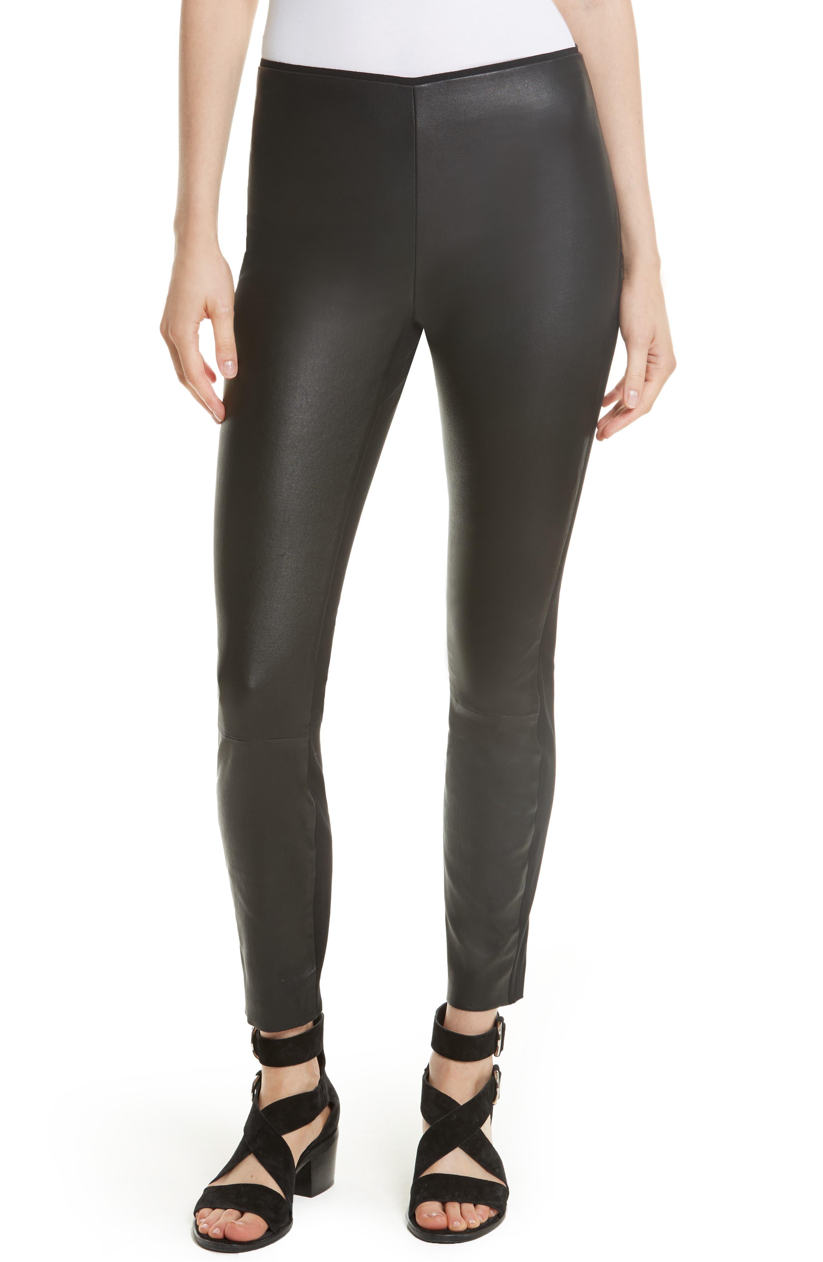 Main Image - rag & bone Josephine Leather Front Skinny Pants