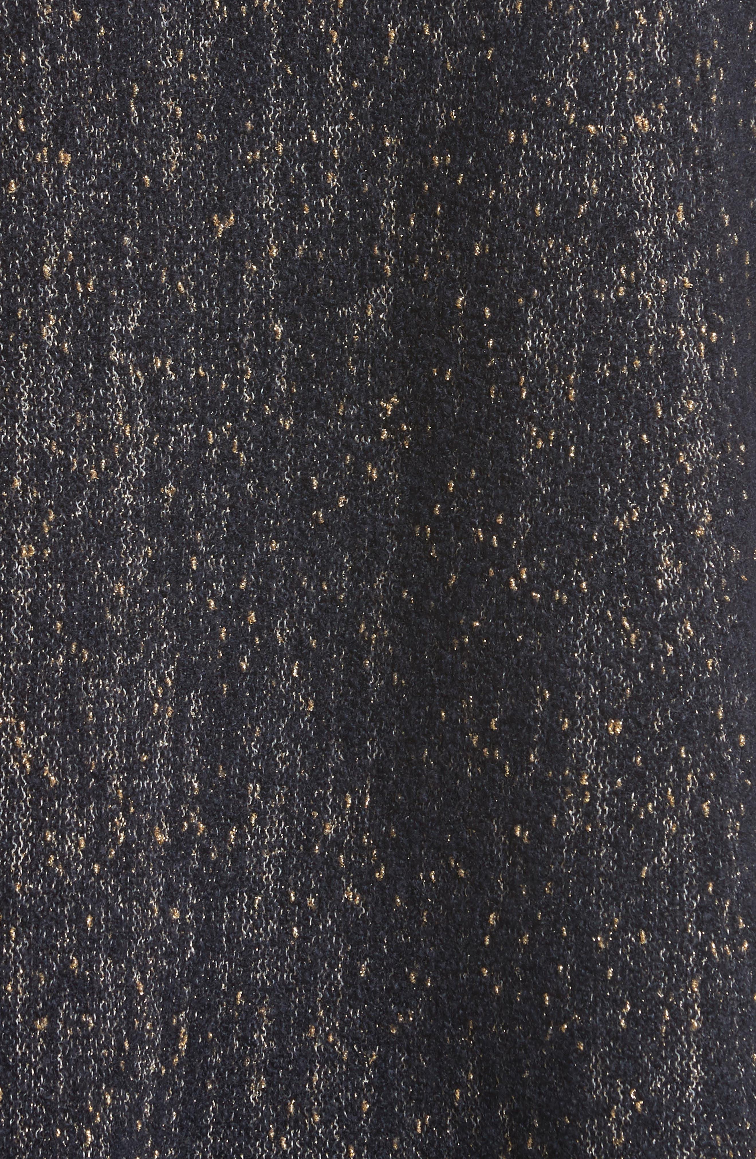 Lafayette Metallic Knit A-Line Sweater,                             Alternate thumbnail 5, color,                             Ink Metallic