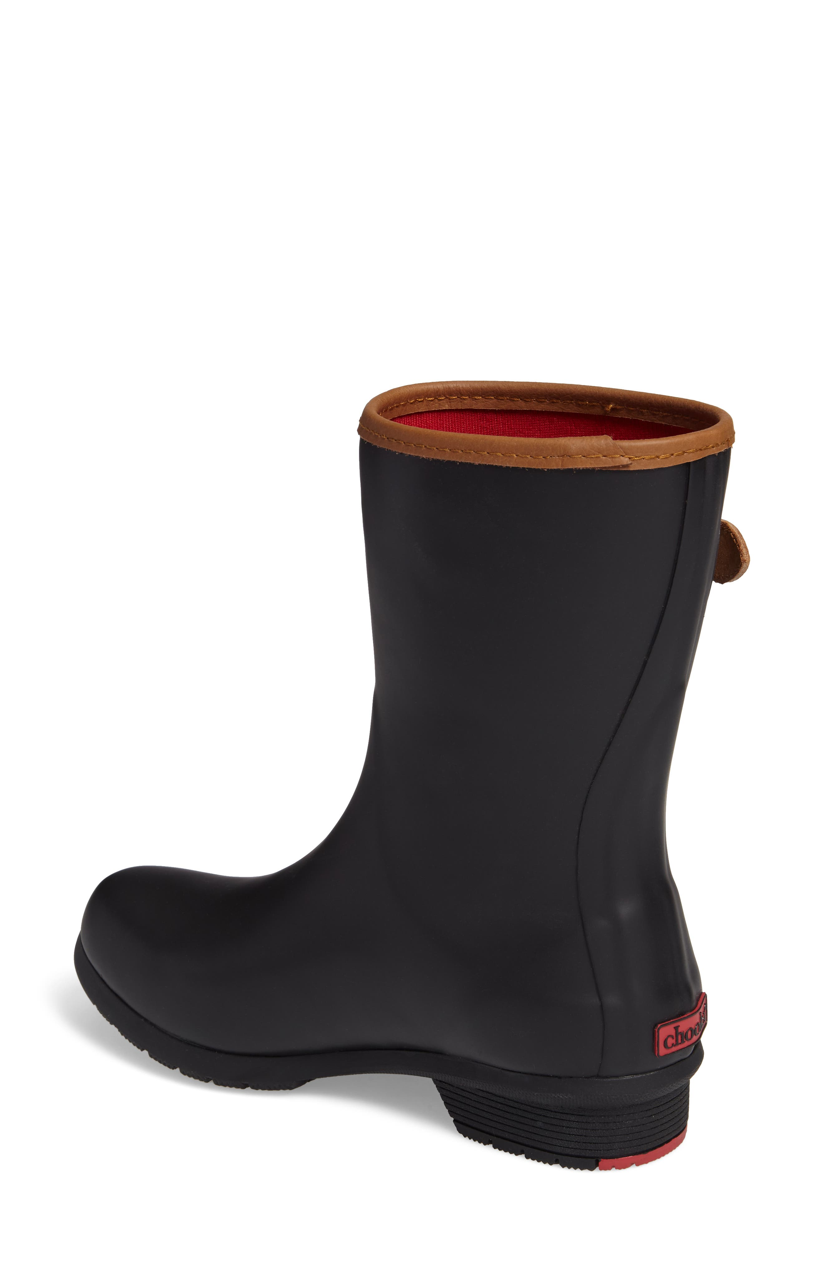 City Solid Mid Height Rain Boot,                             Alternate thumbnail 2, color,                             Black