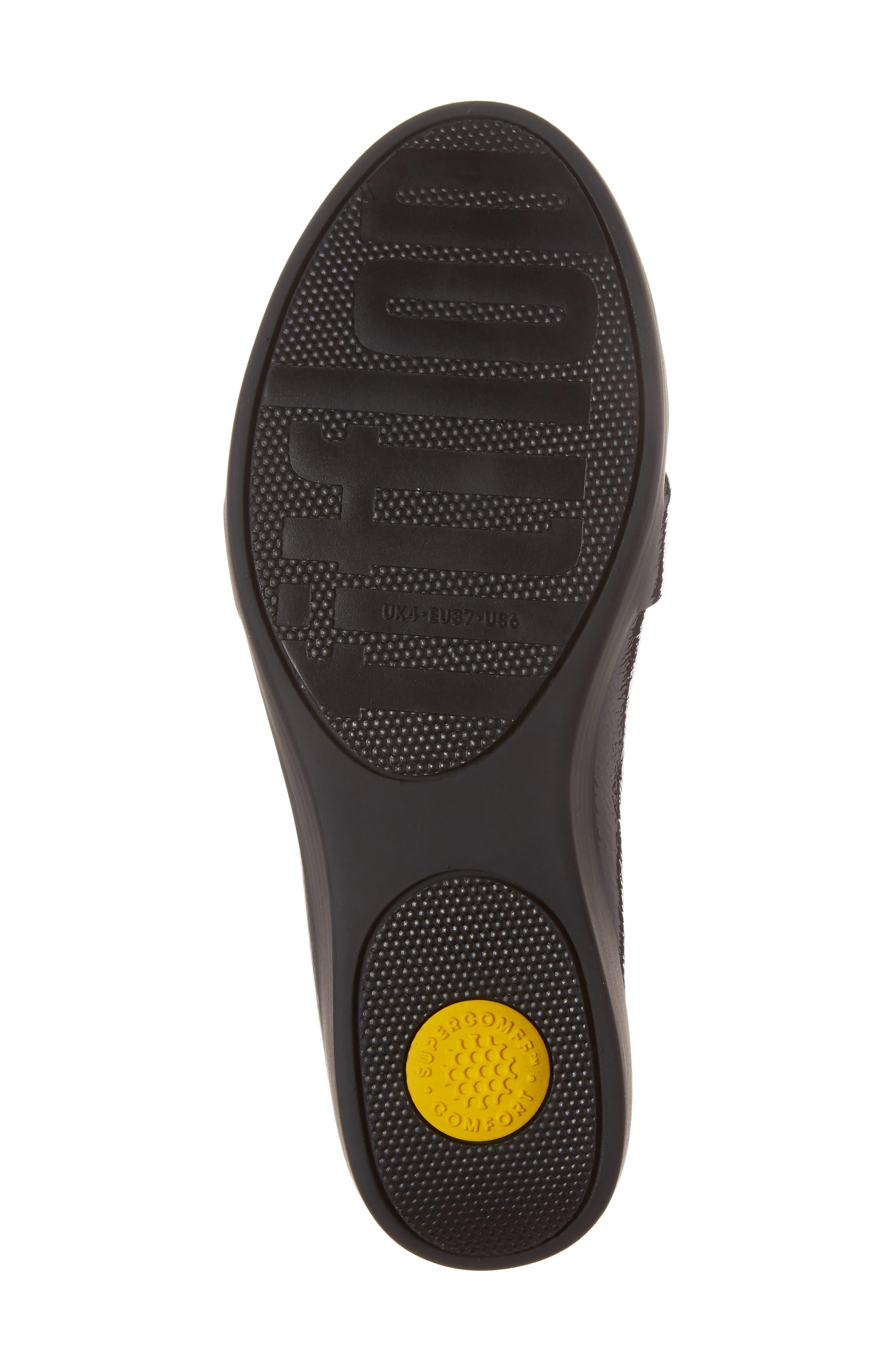 Fringey Sneakerloafer Slip-On,                             Alternate thumbnail 6, color,                             Deep Plum Leather