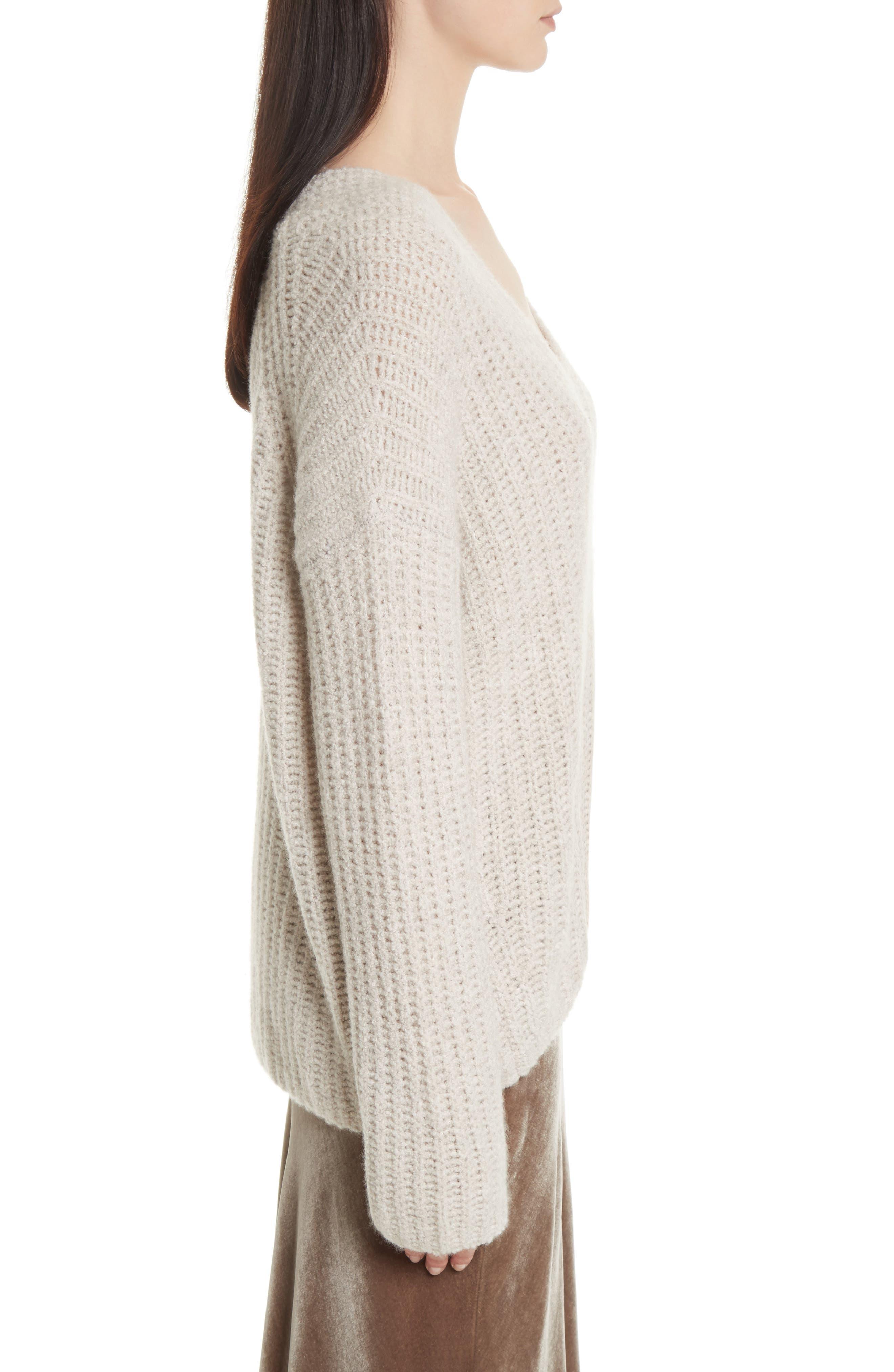 Alternate Image 4  - Vince Deep V-Neck Cashmere Blend Sweater
