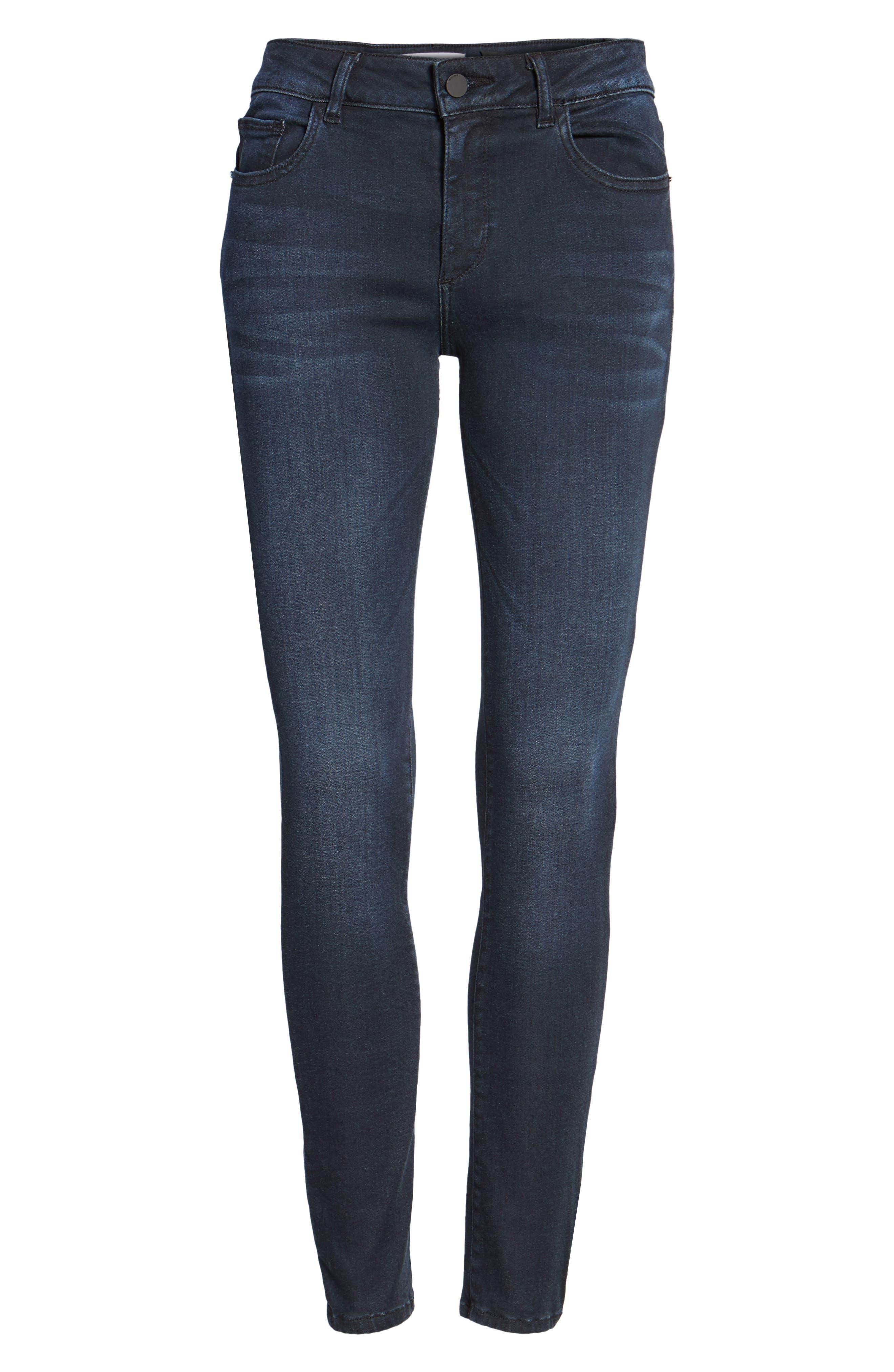 Emma Power Legging Skinny Jeans,                             Alternate thumbnail 6, color,                             Macon