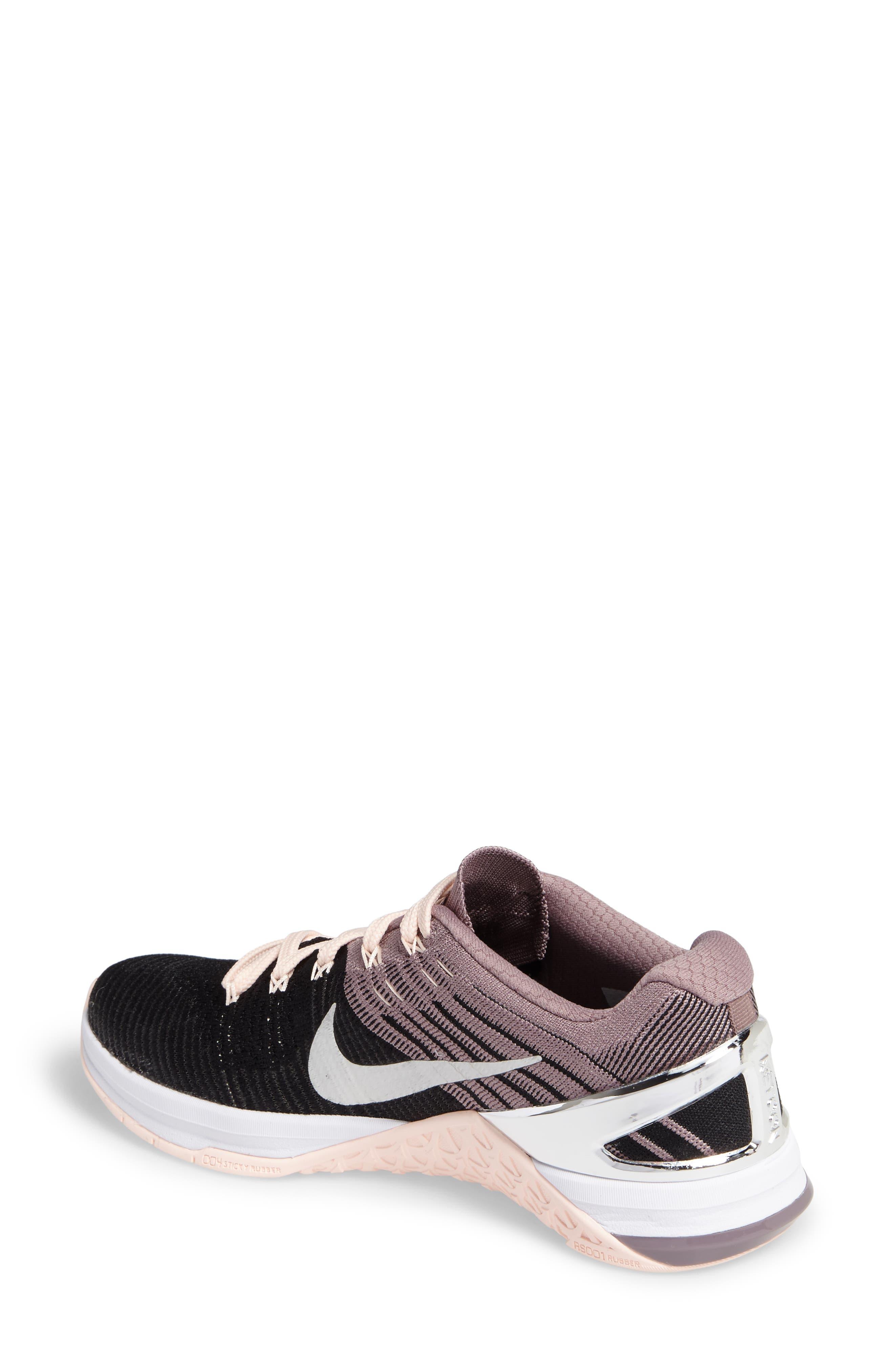 Alternate Image 2  - Nike Metcon DSX Flyknit Chrome Blush Training Shoe (Women)