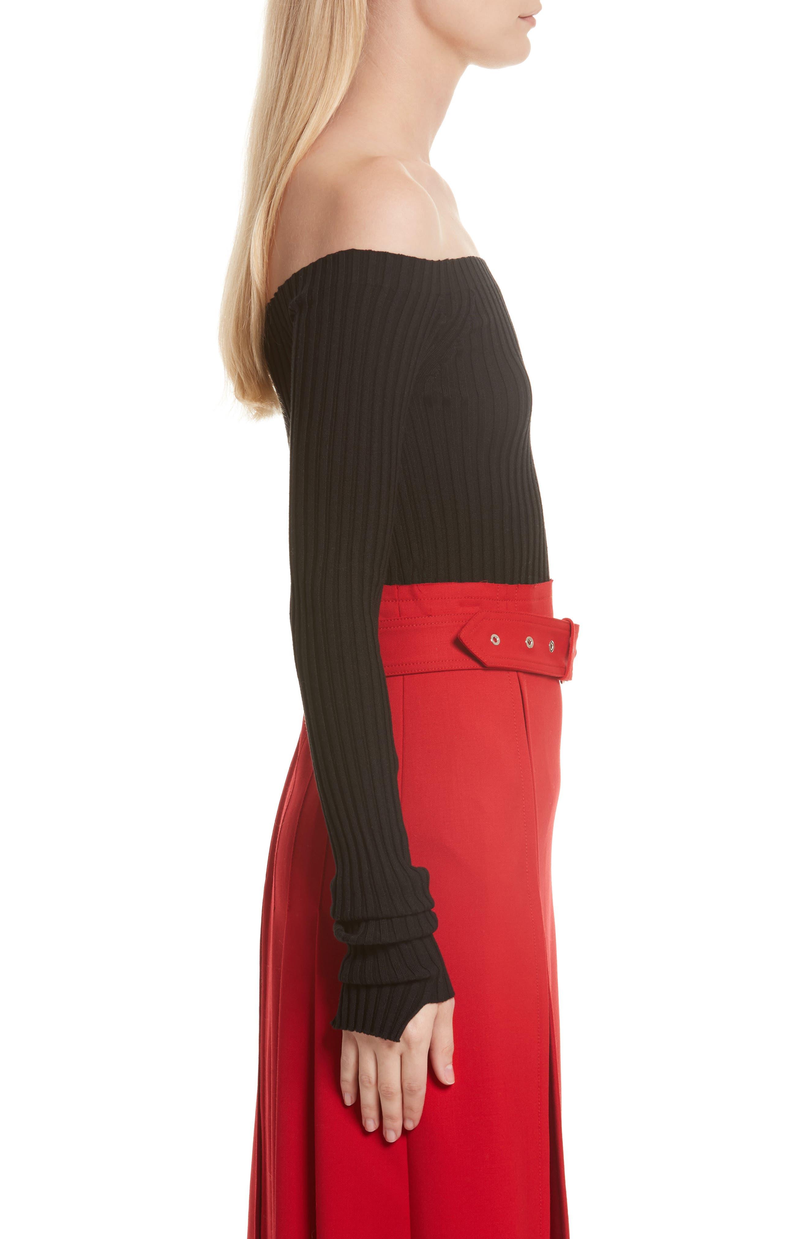Alternate Image 4  - Helmut Lang Knit Silk Off the Shoulder Sweater