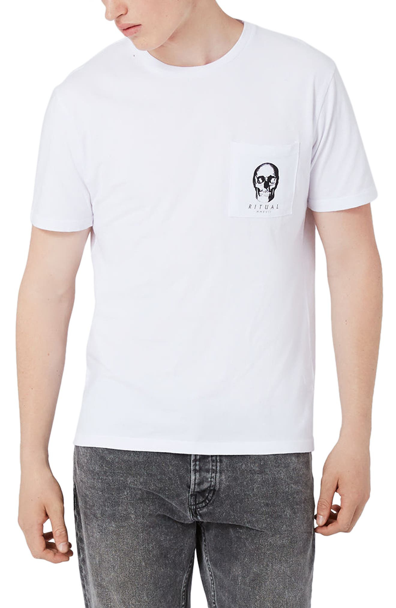 Topman Slim Fit Ritual Graphic T-Shirt