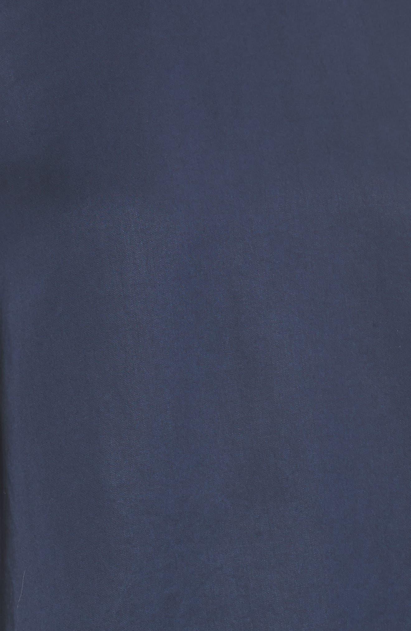 Tie Sleeve Poplin Top,                             Alternate thumbnail 5, color,                             Navy