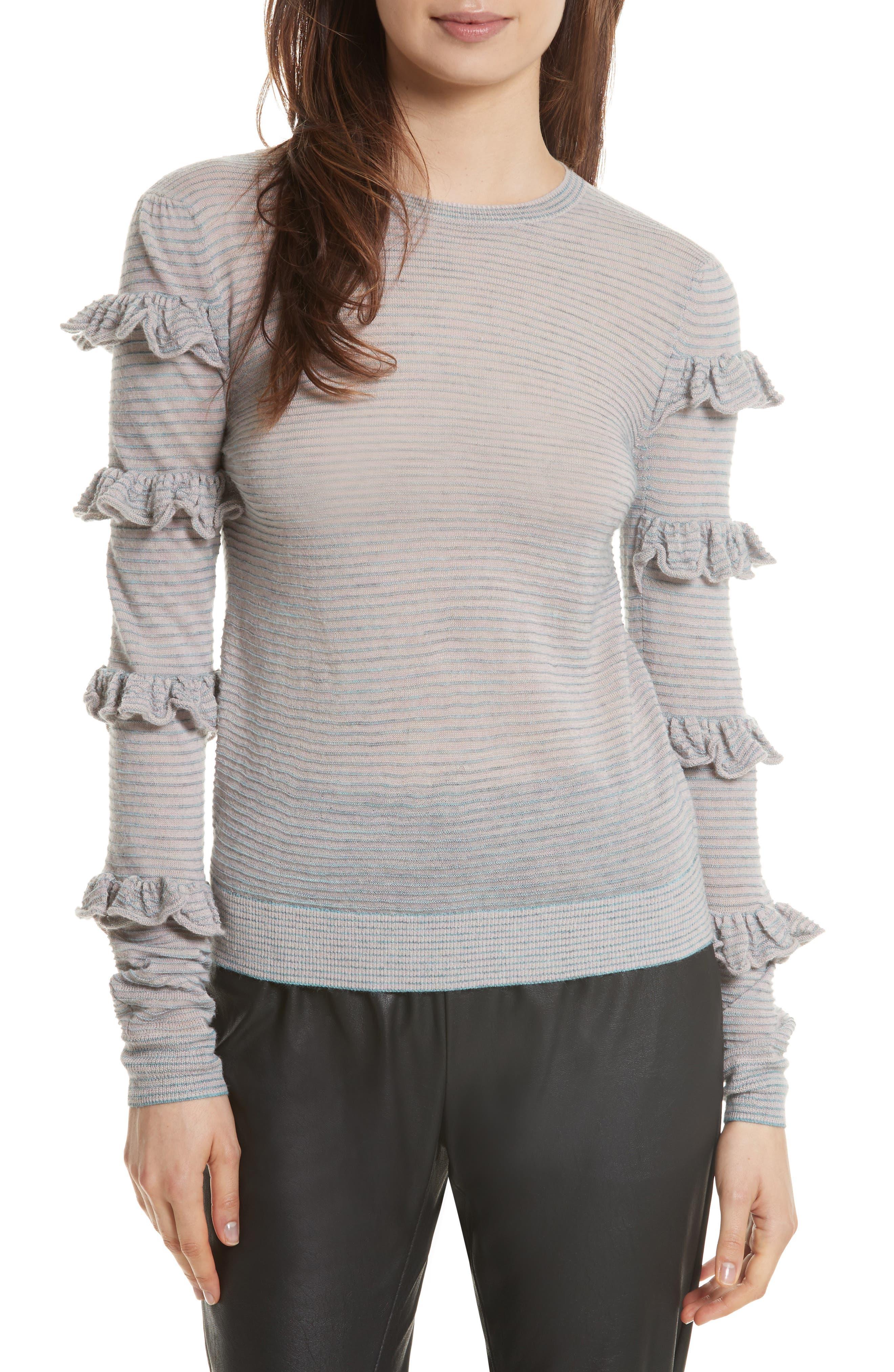 Rebecca Taylor Ruffle Sleeve Sweater