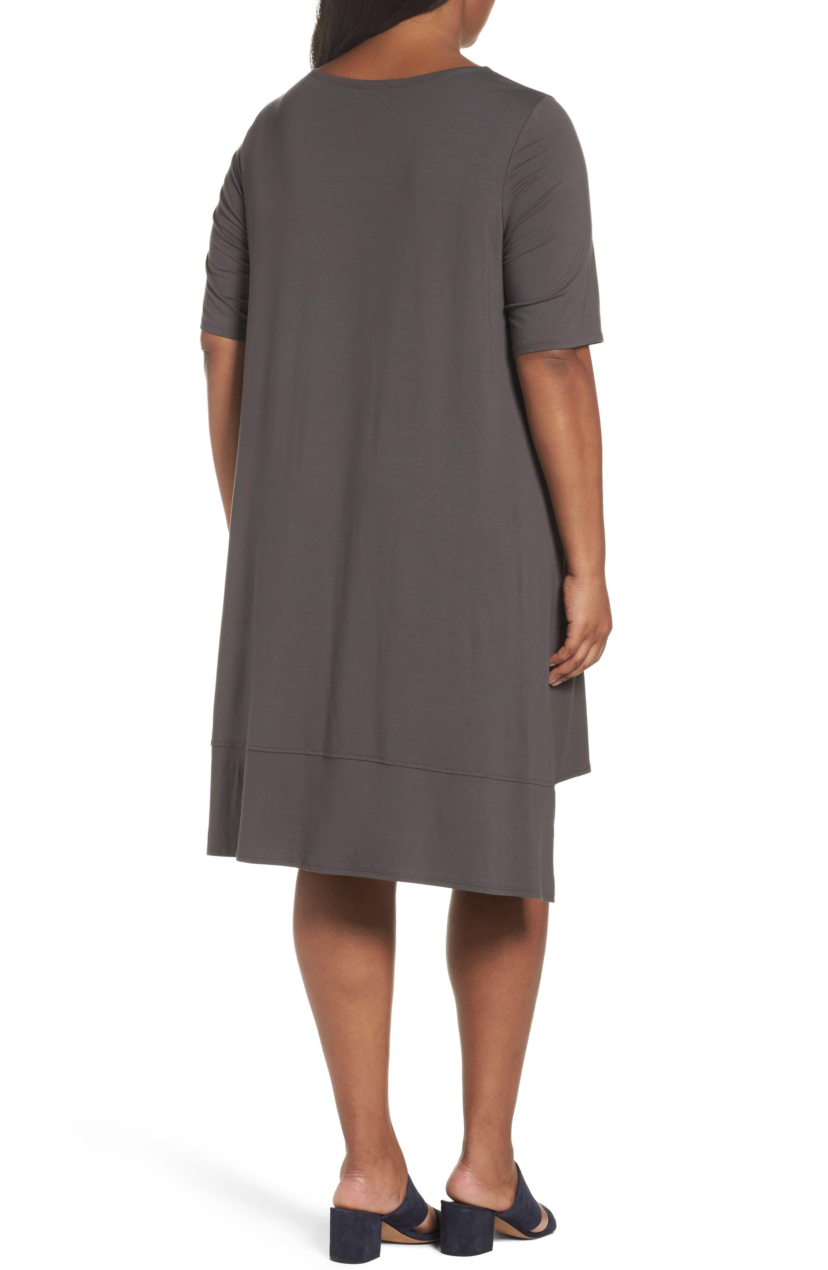Alternate Image 2  - Eileen Fisher Jersey Shift Dress (Plus Size)