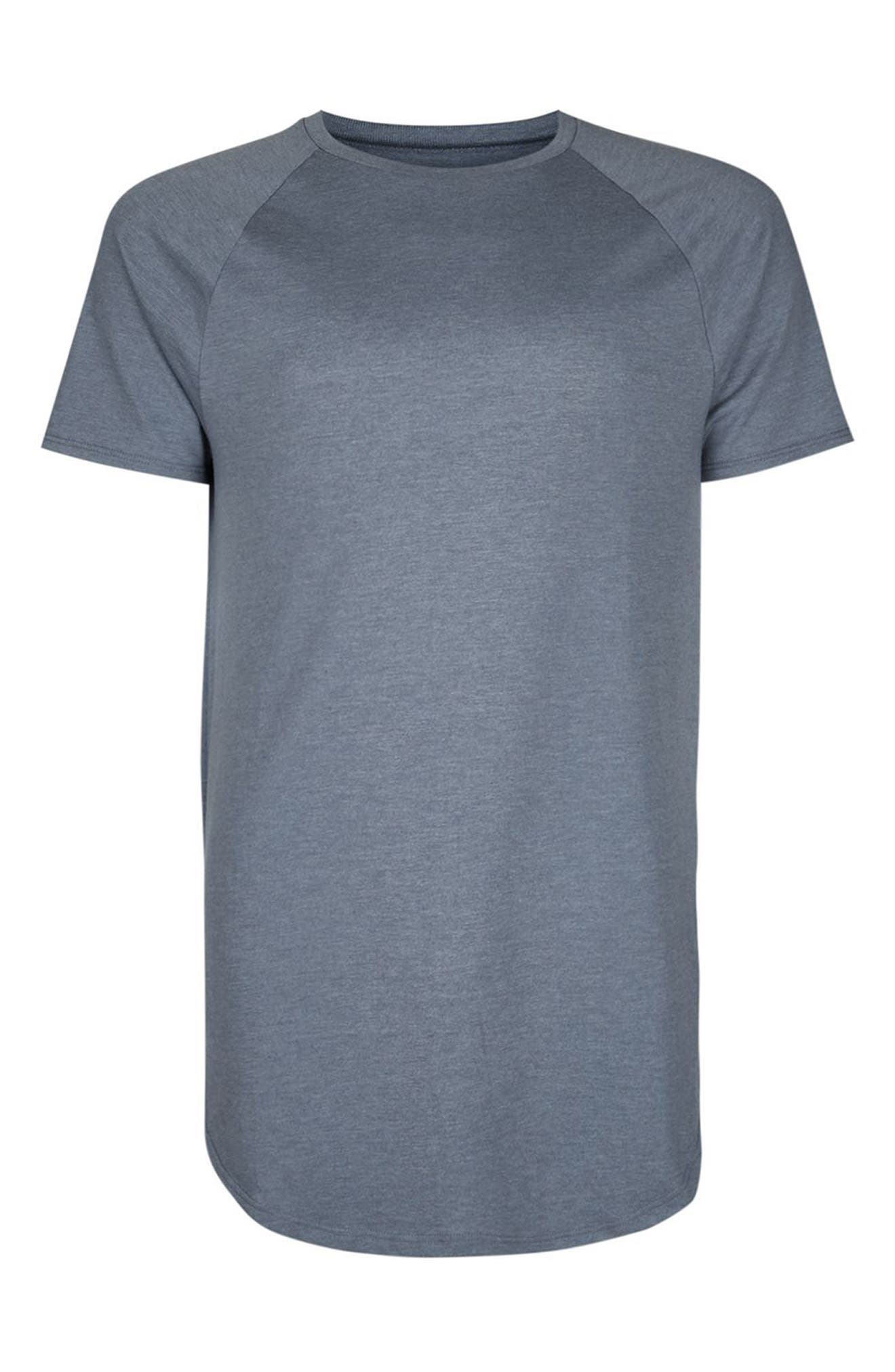 Longline T-Shirt with Side Zips,                             Alternate thumbnail 4, color,                             Mid Blue