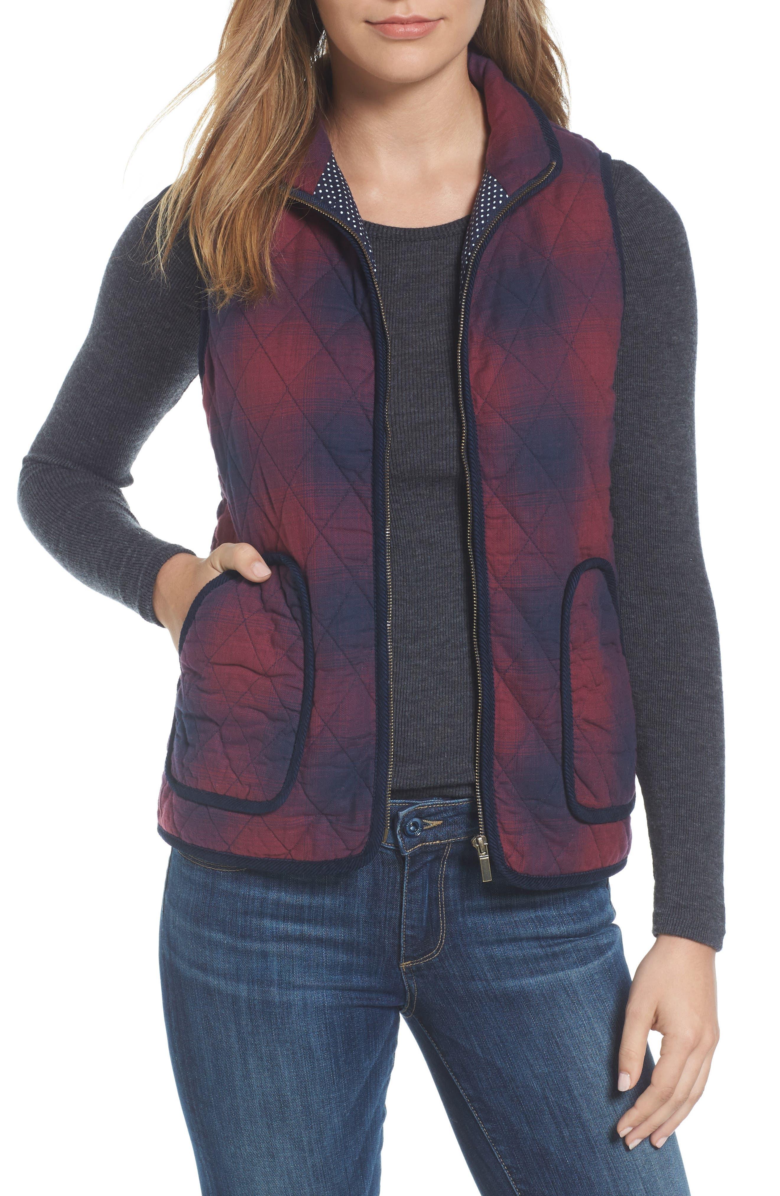 Caslon® Quilted Vest (Regular & Petite)