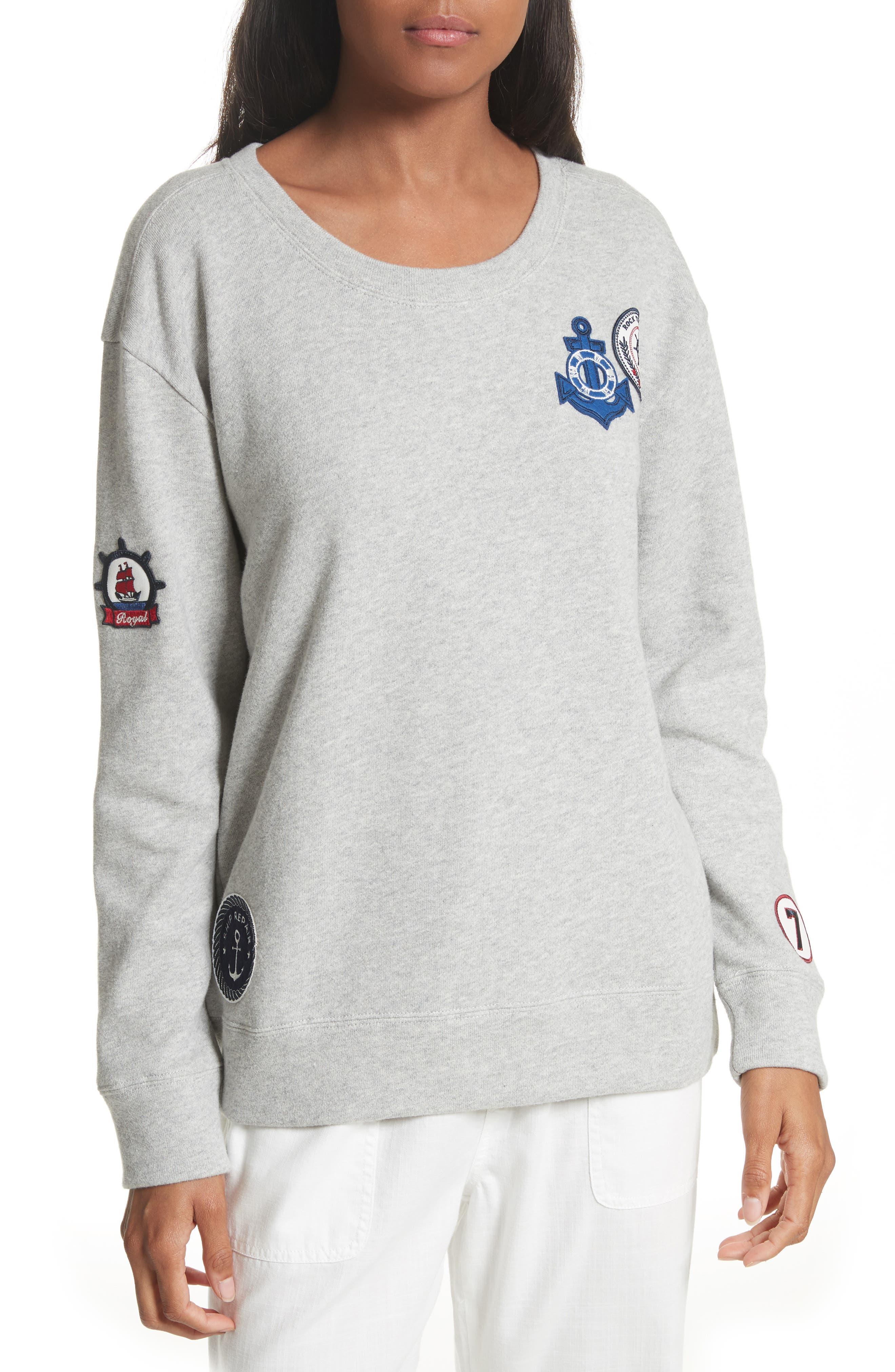 Soft Joie Rikke B Appliqué Sweatshirt
