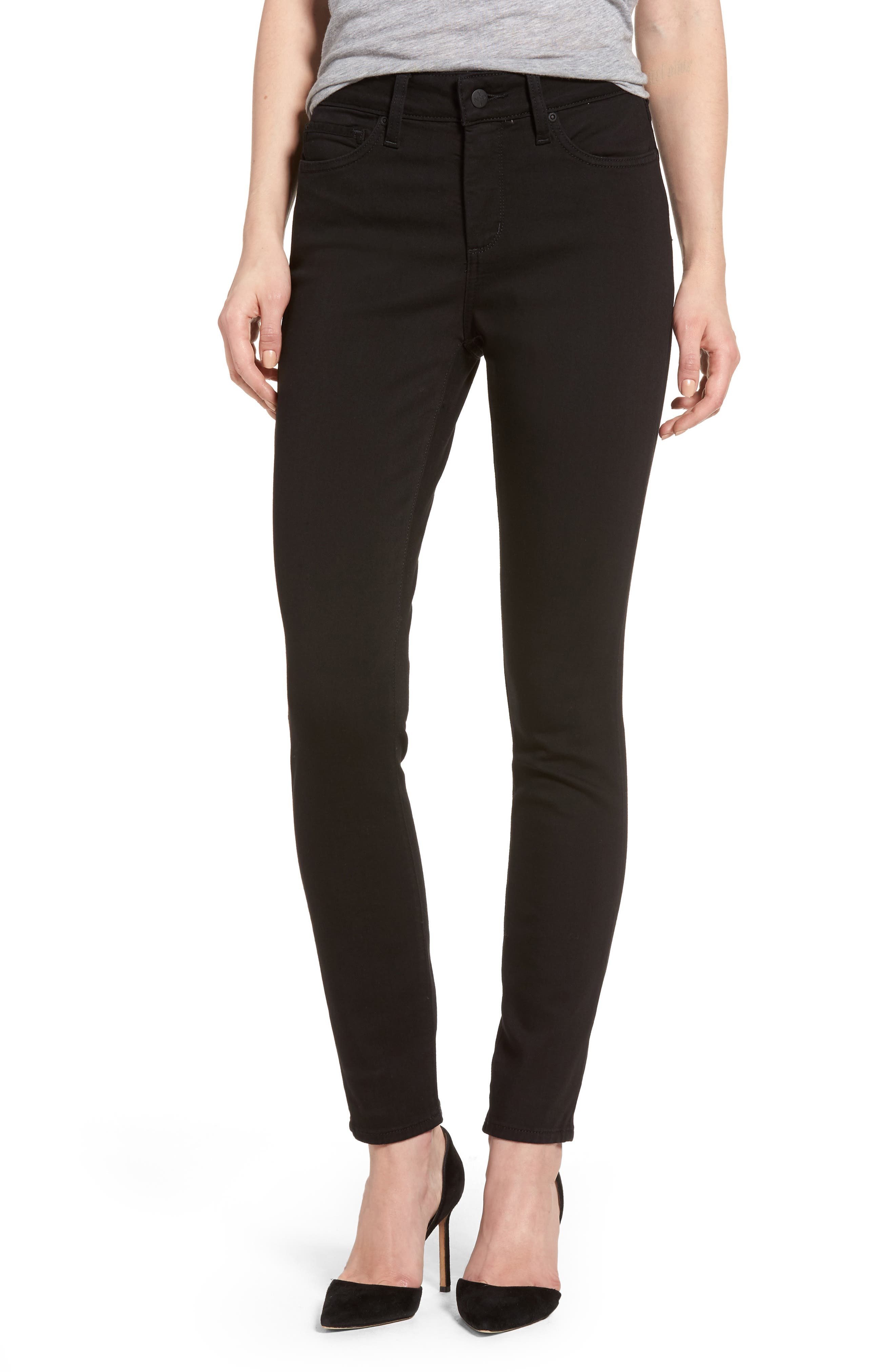 Ami Stretch Skinny Jeans,                         Main,                         color, Black