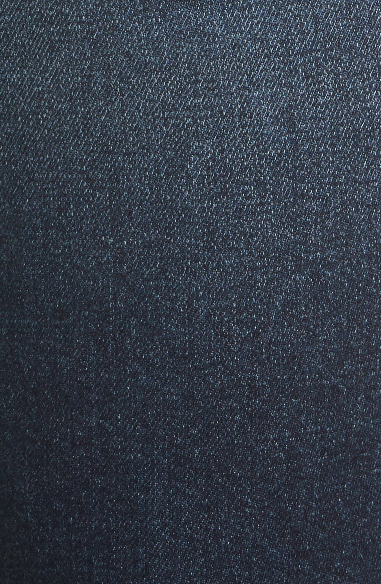 Ruffle Hem Jeans,                             Alternate thumbnail 5, color,                             Blue Midnight Wash
