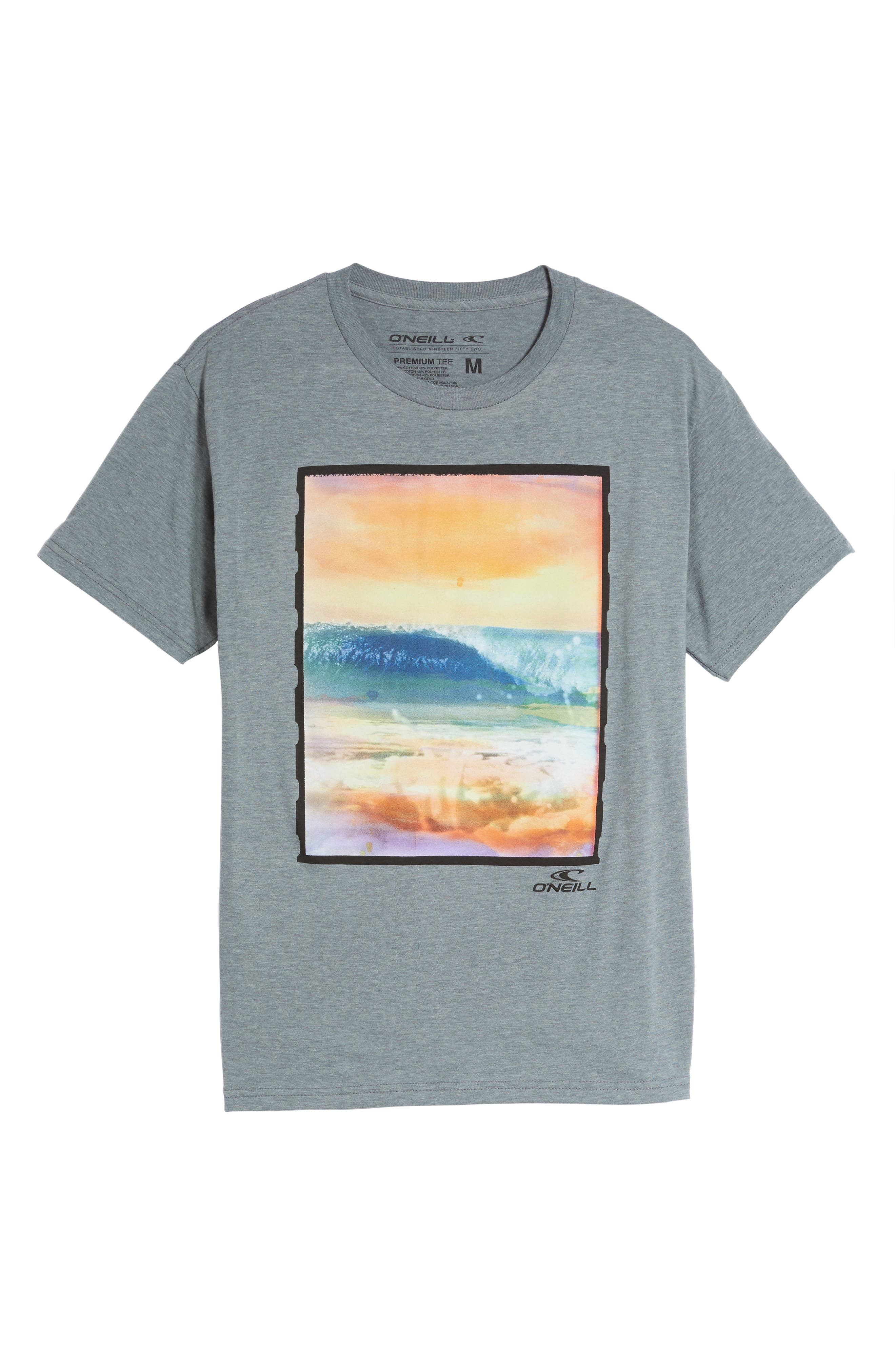 Bright Lights Graphic T-Shirt,                             Alternate thumbnail 6, color,                             Medium Heather Grey