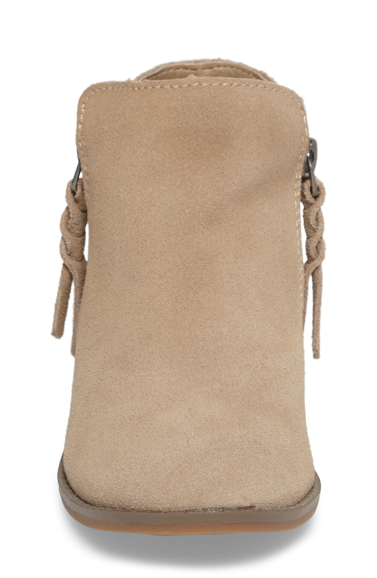 Sia Double-Zip Bootie,                             Alternate thumbnail 4, color,                             Sand Suede