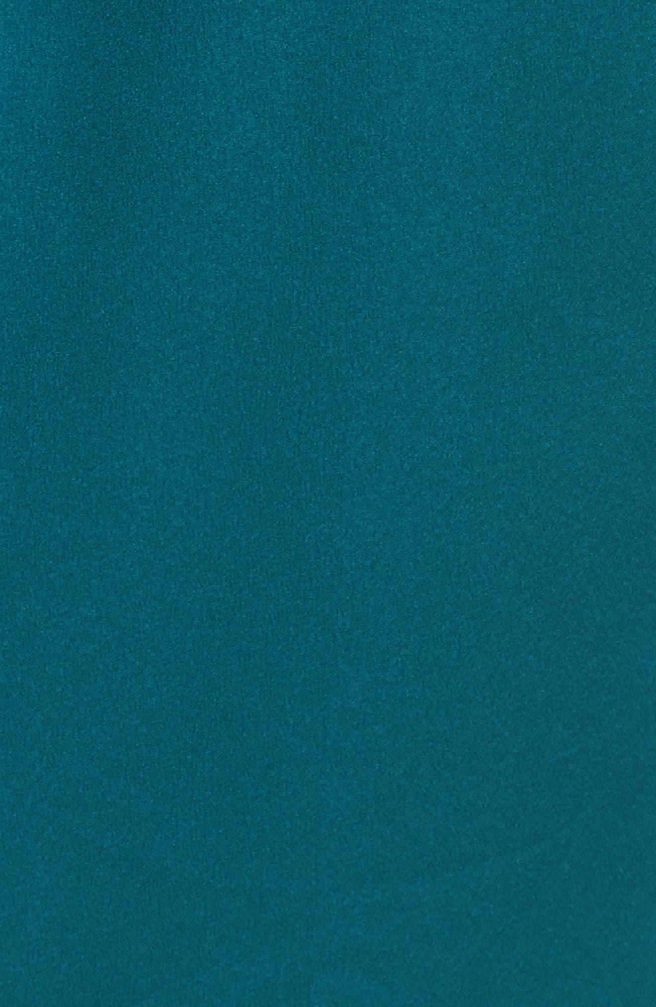 Feathers Satin Wrap,                             Alternate thumbnail 6, color,                             Blue Green