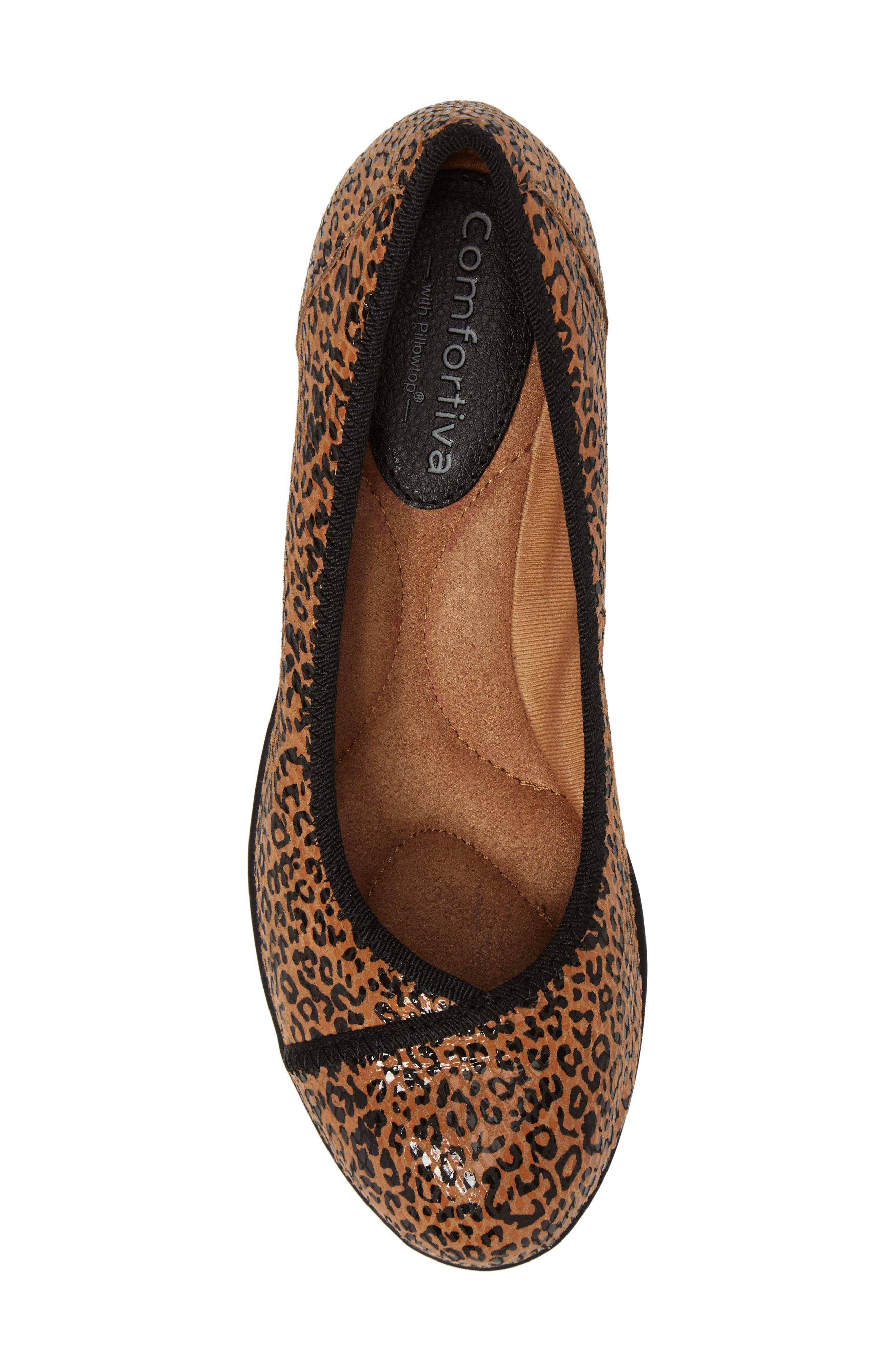 Eaton Flat,                             Alternate thumbnail 5, color,                             Tan Leopard Suede