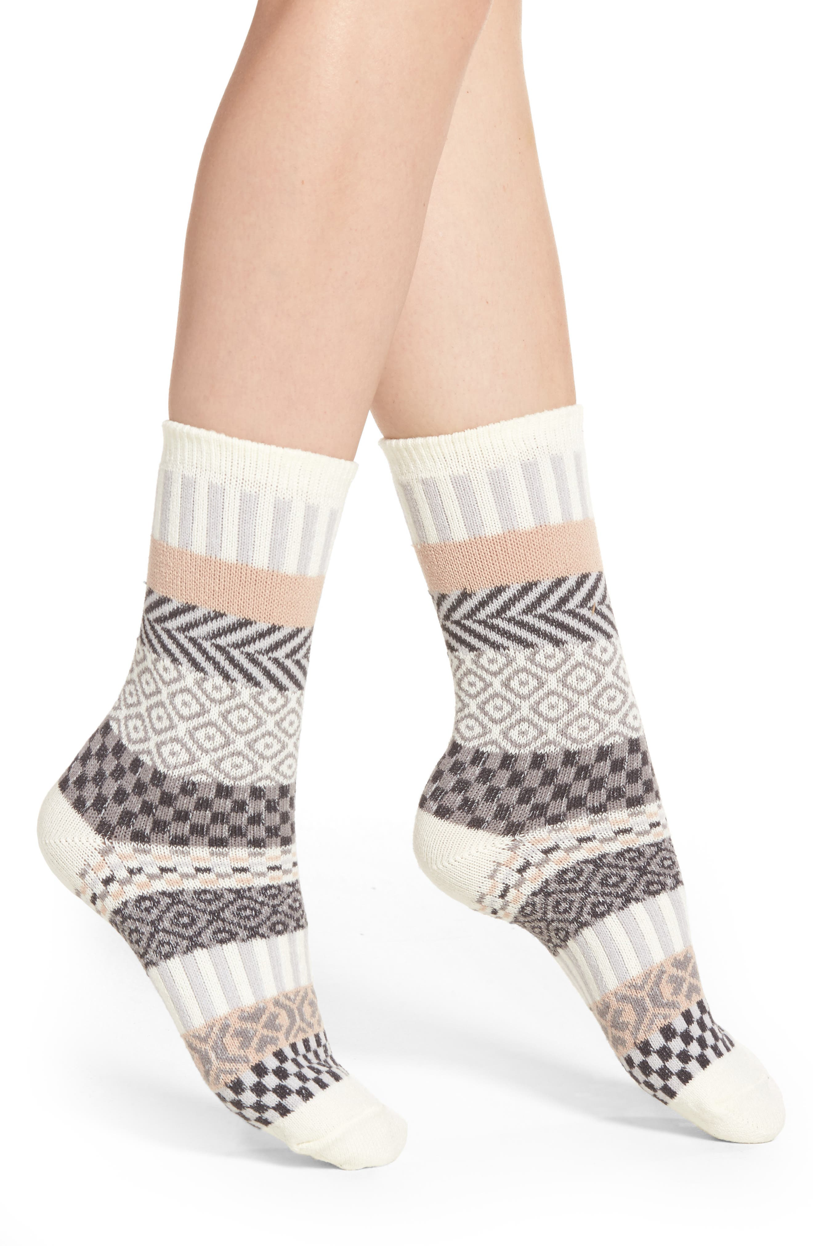 Hue Fair Isle Stripe Boot Socks