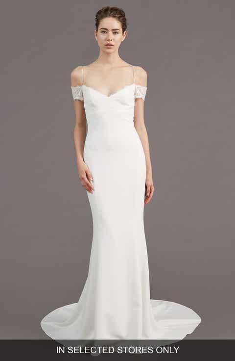 Amsale Mel Off the Shoulder Trumpet Gown  In Selected Stores Only Amsale Dresses   Nordstrom   Nordstrom. Off The Rack Wedding Dresses Nyc. Home Design Ideas