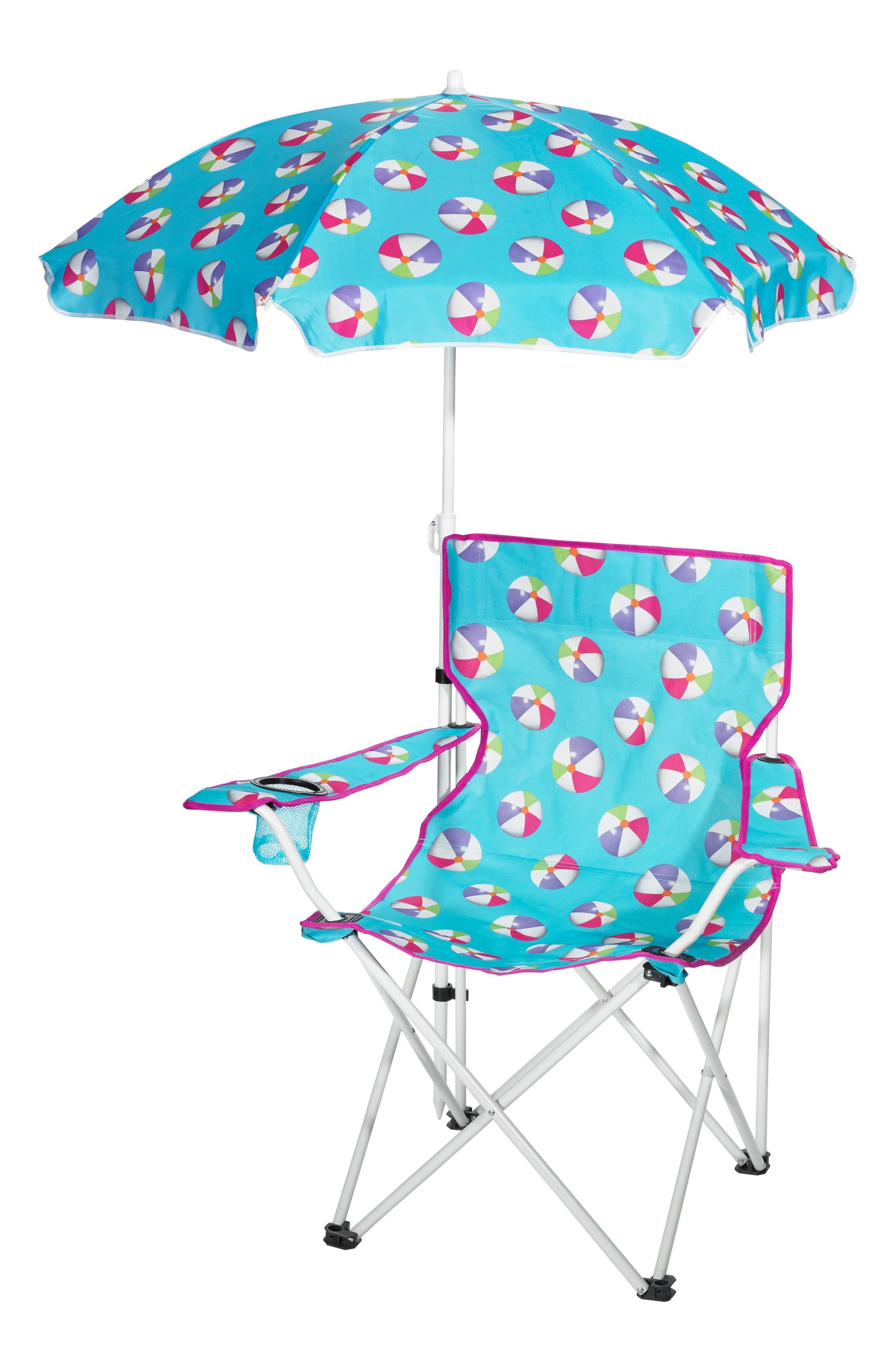 Umbrella Beach Chair,                         Main,                         color, Teal