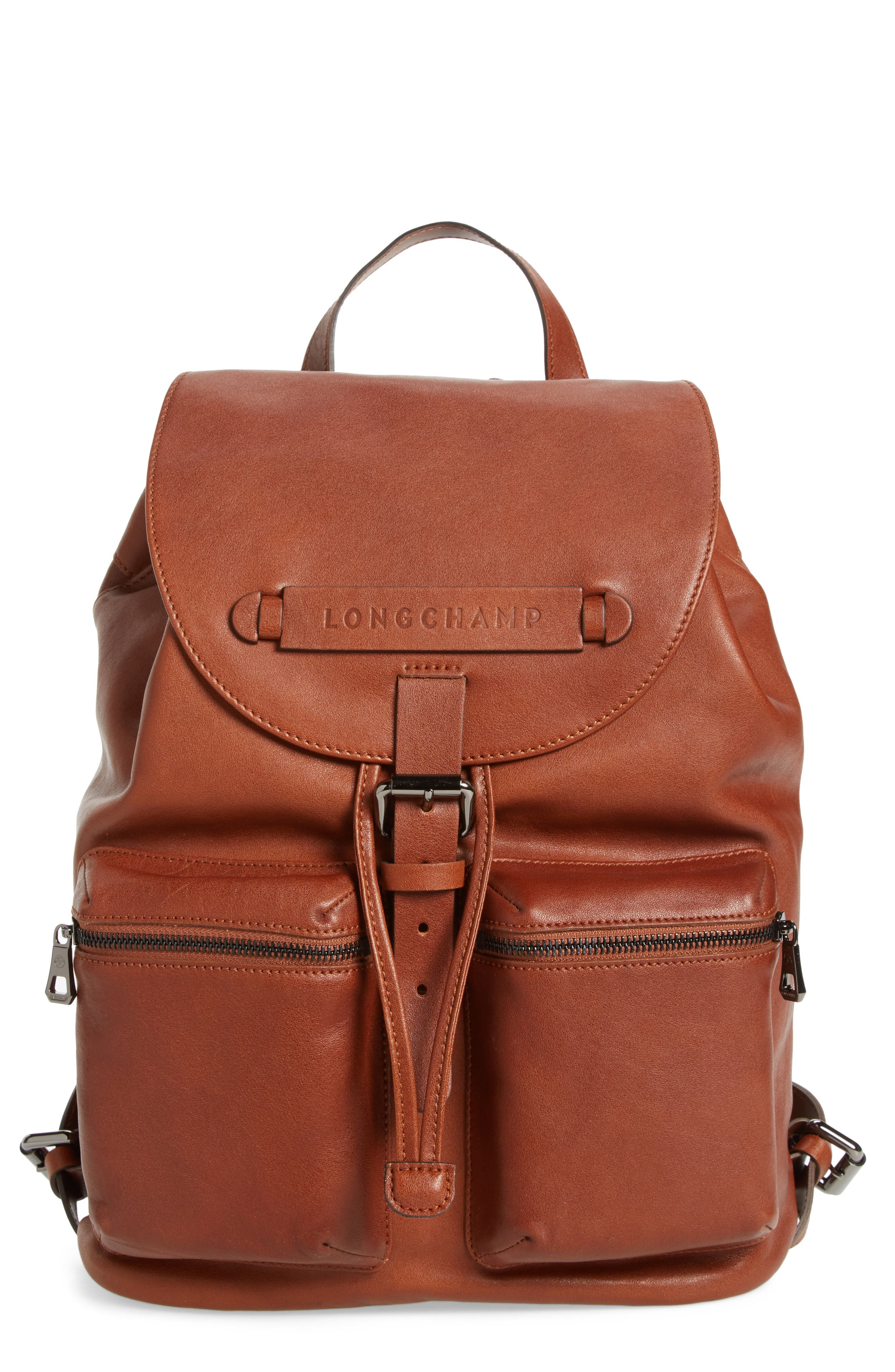 Alternate Image 1 Selected - Longchamp Medium 3D Leather Backpack