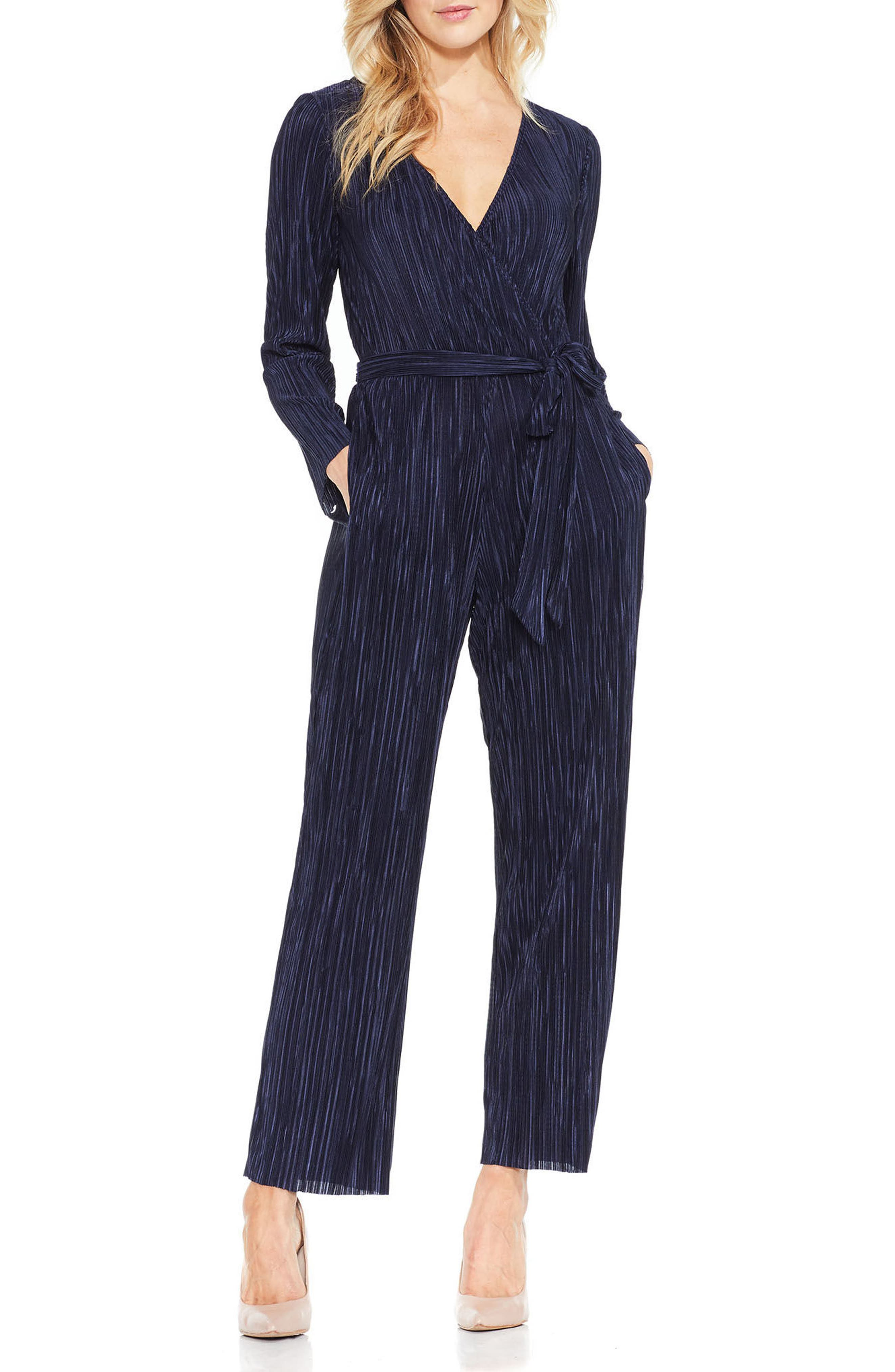 Vince Camuto Pleated Knit Jumpsuit