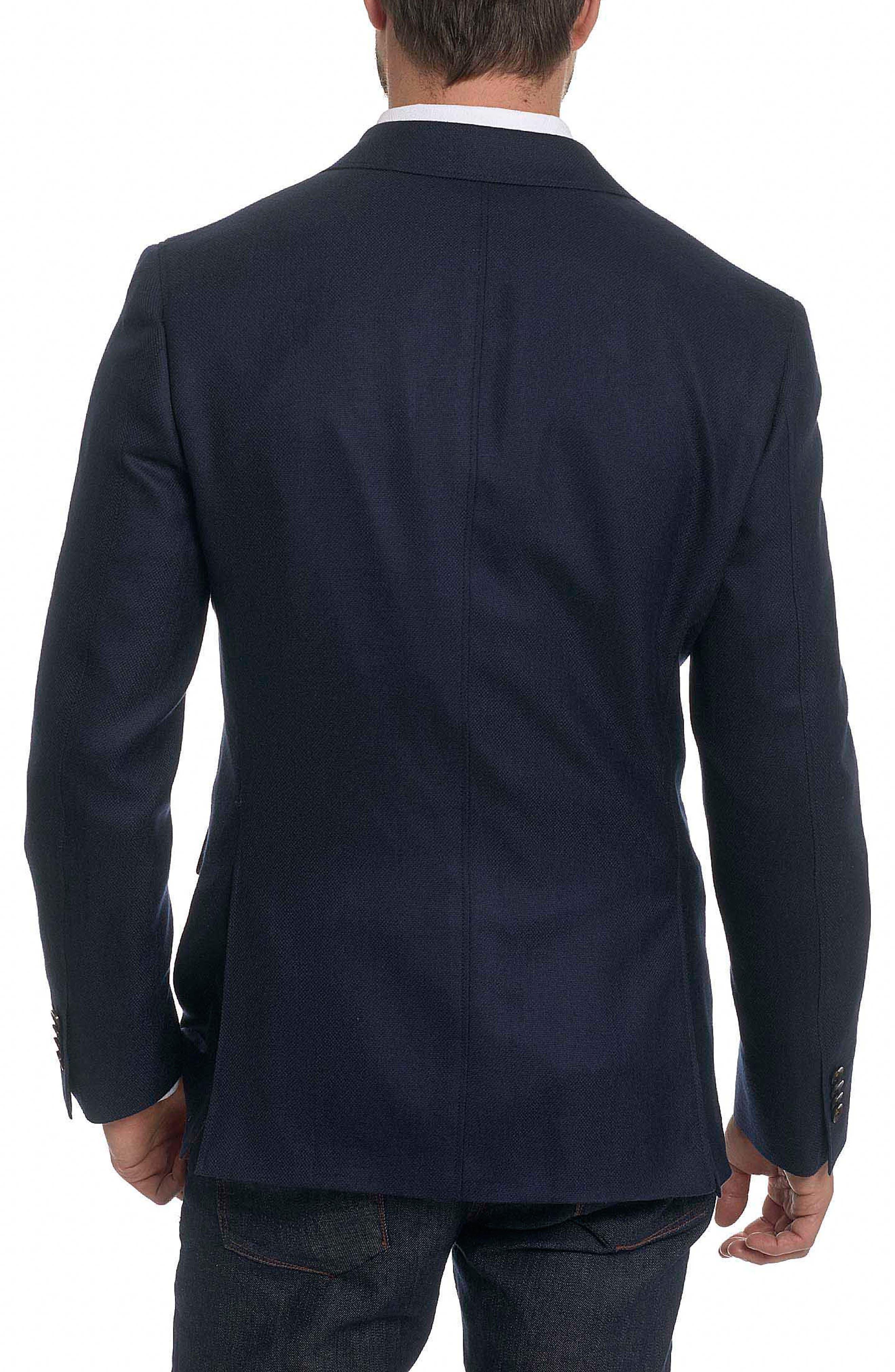 Newburgh Classic Fit Cashmere Sport Coat,                             Alternate thumbnail 2, color,                             Navy