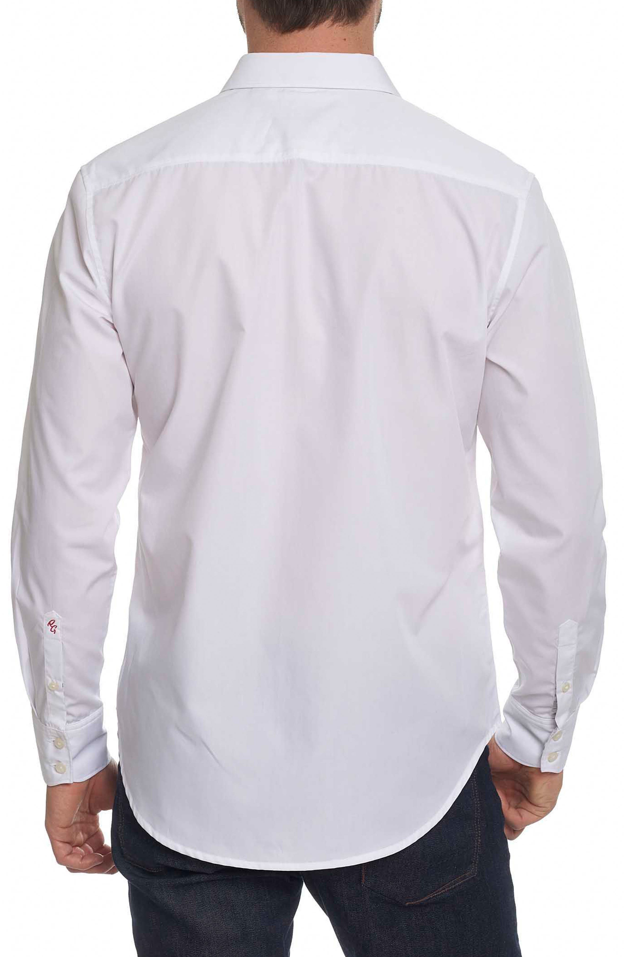 Onyx Classic Fit Embroidered Sport Shirt,                             Alternate thumbnail 3, color,                             White
