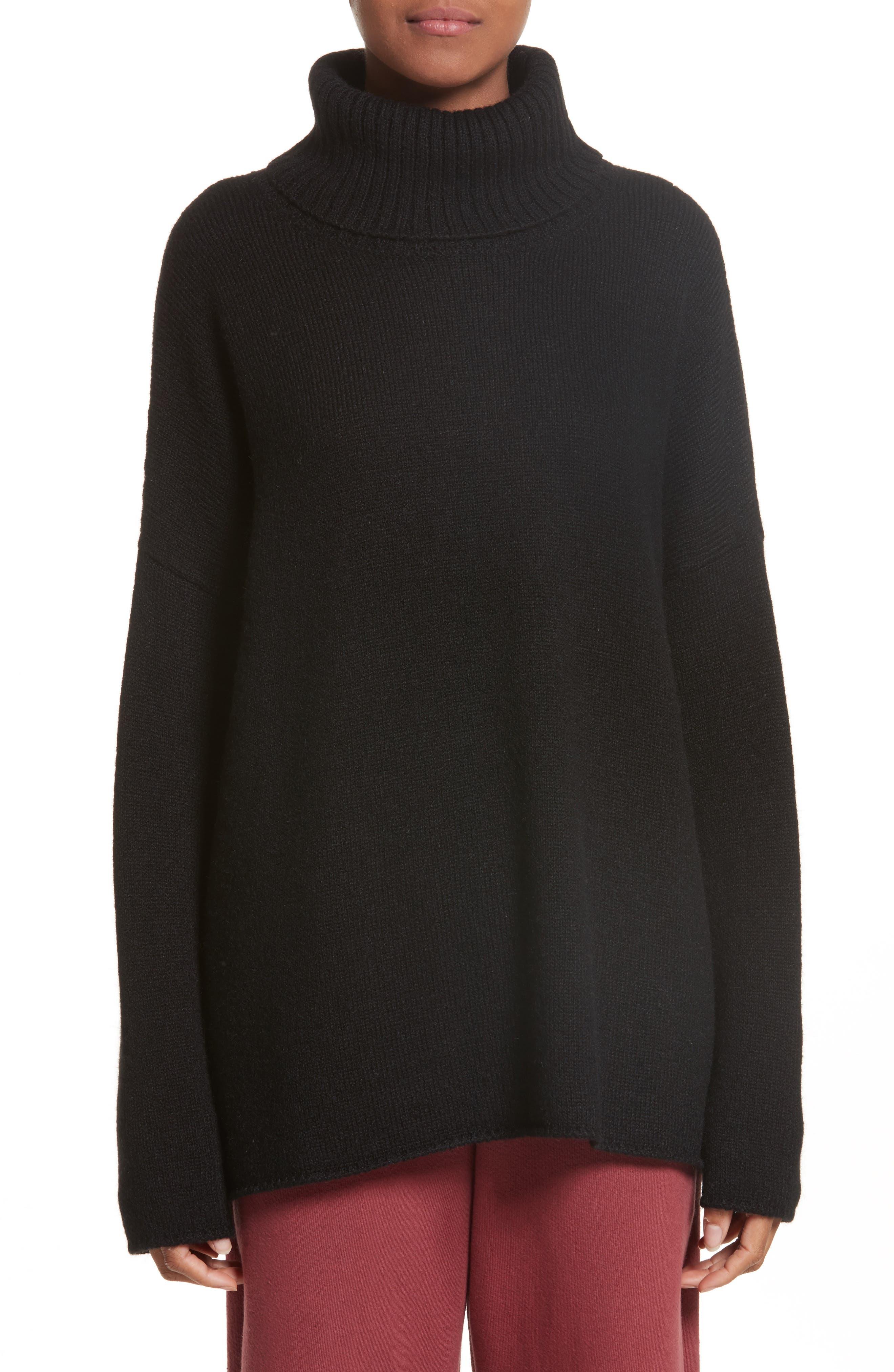 Alpaca Turtleneck Sweater,                         Main,                         color, Black