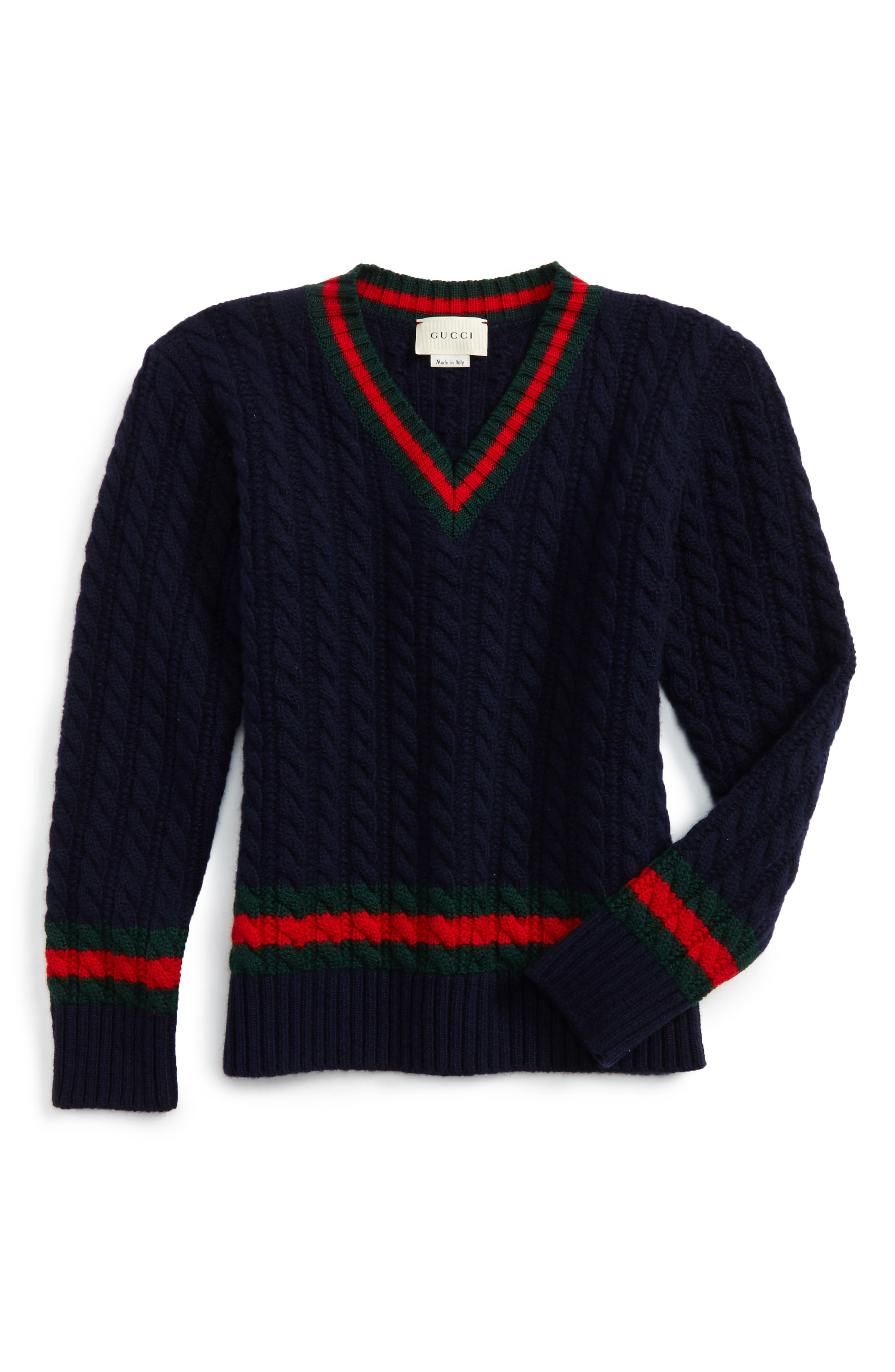 Gucci Cable Knit Wool Sweater (Little Boys & Big Boys)